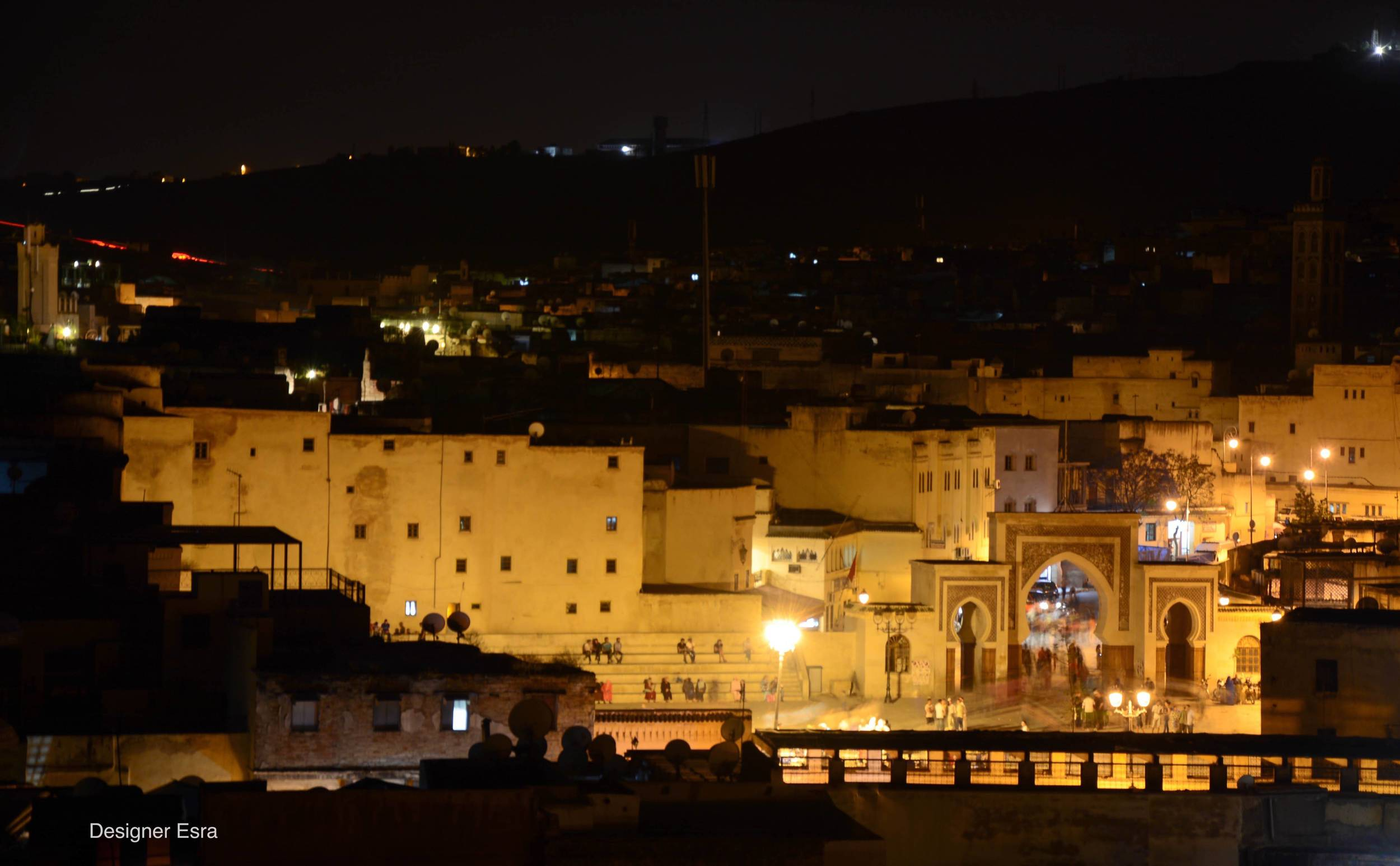 Terrace View of Fes at night