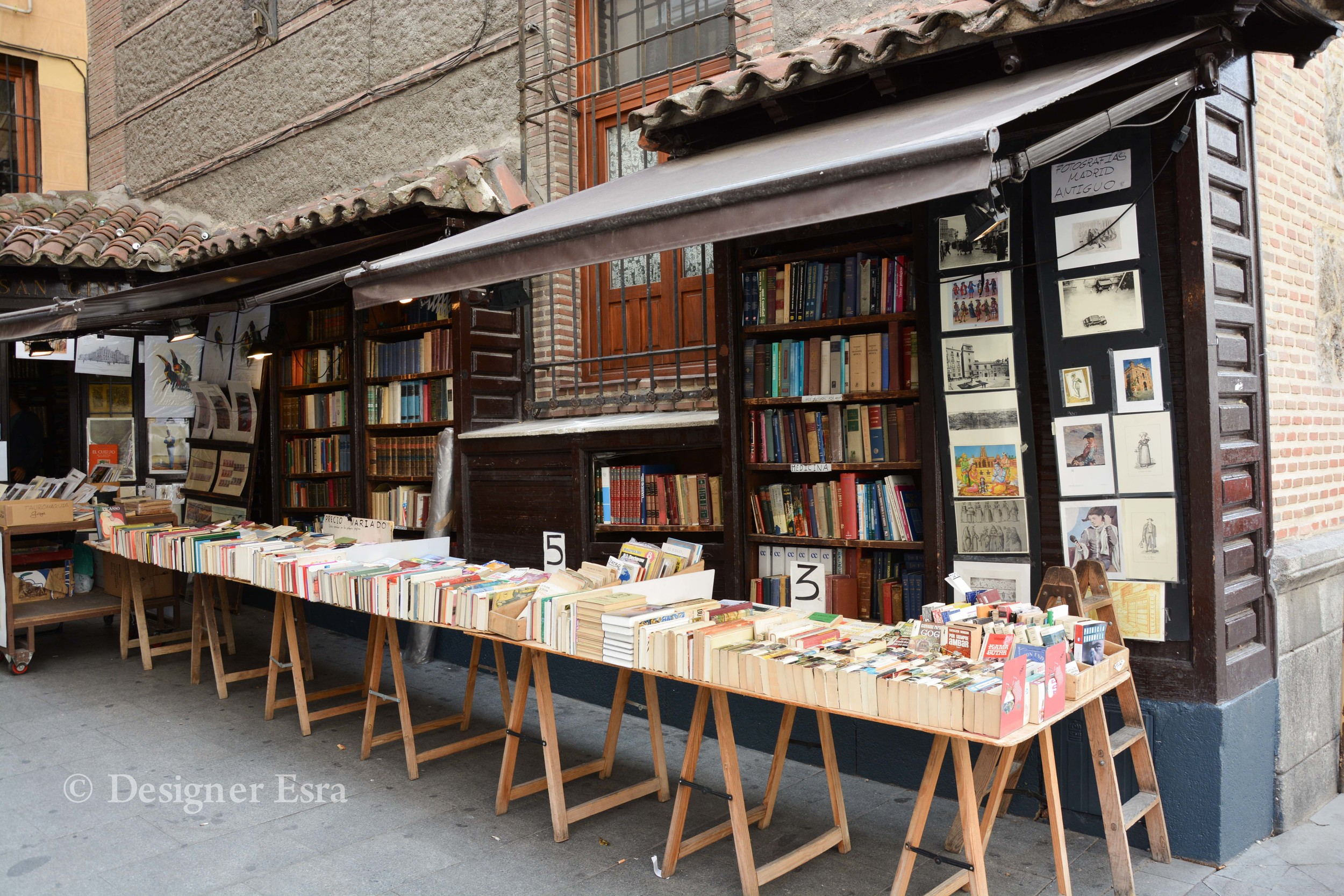 Book Stand in Madrid