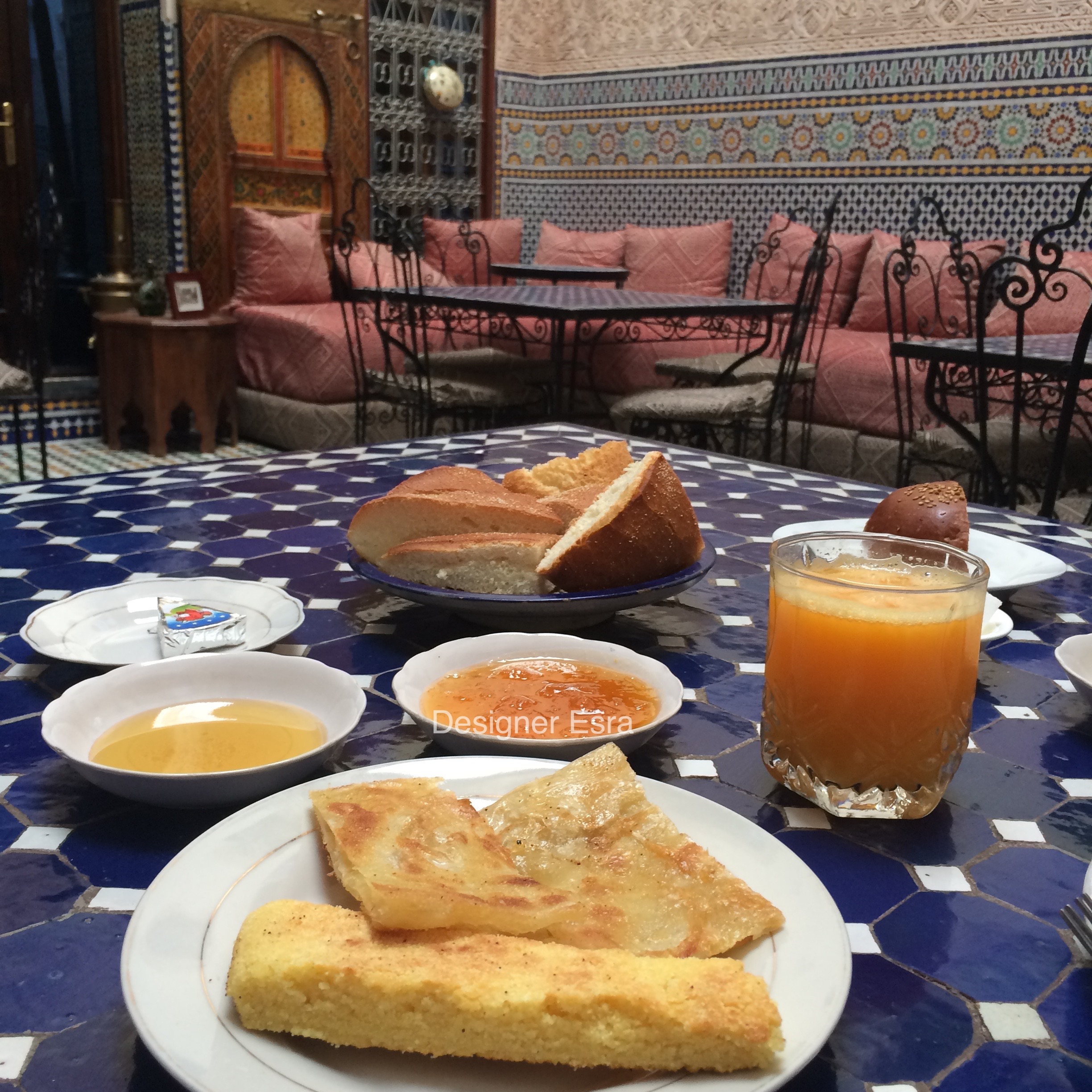 Moroccan Breakfast at the courtyard