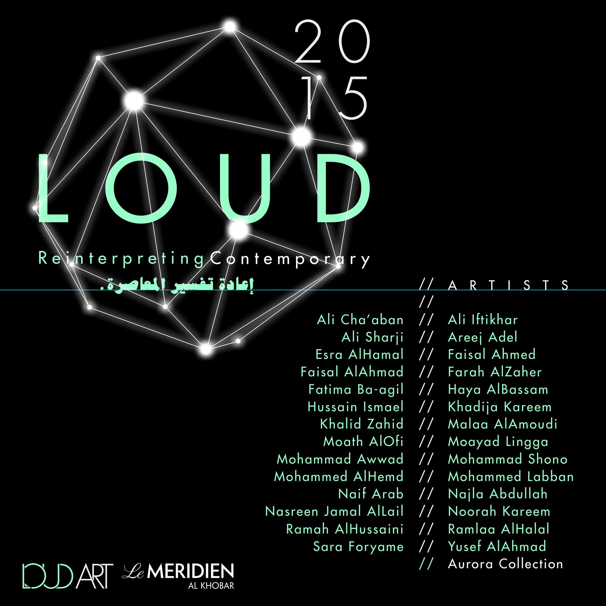 Artists list for Loud Art 2015