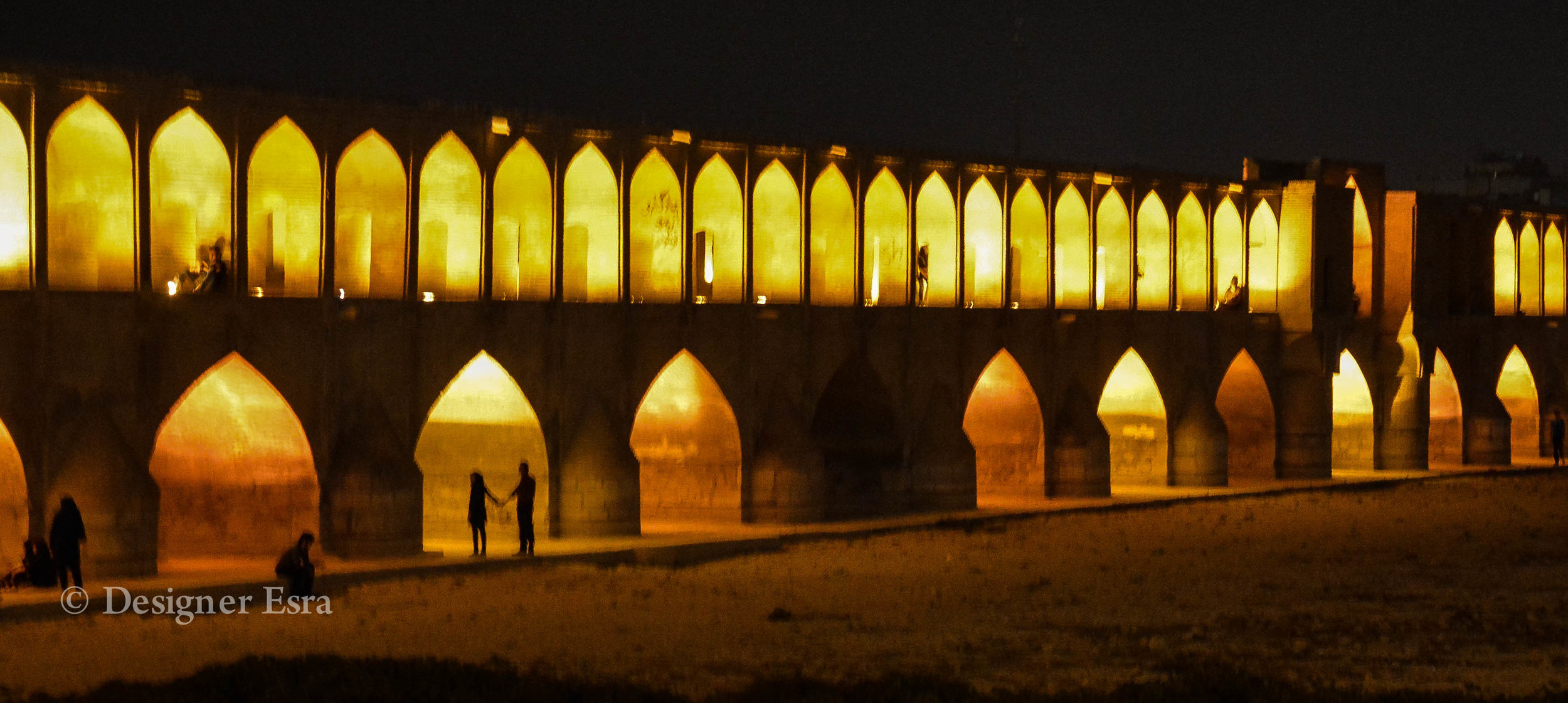 The Romantic Lovers Bridge in Isfahan