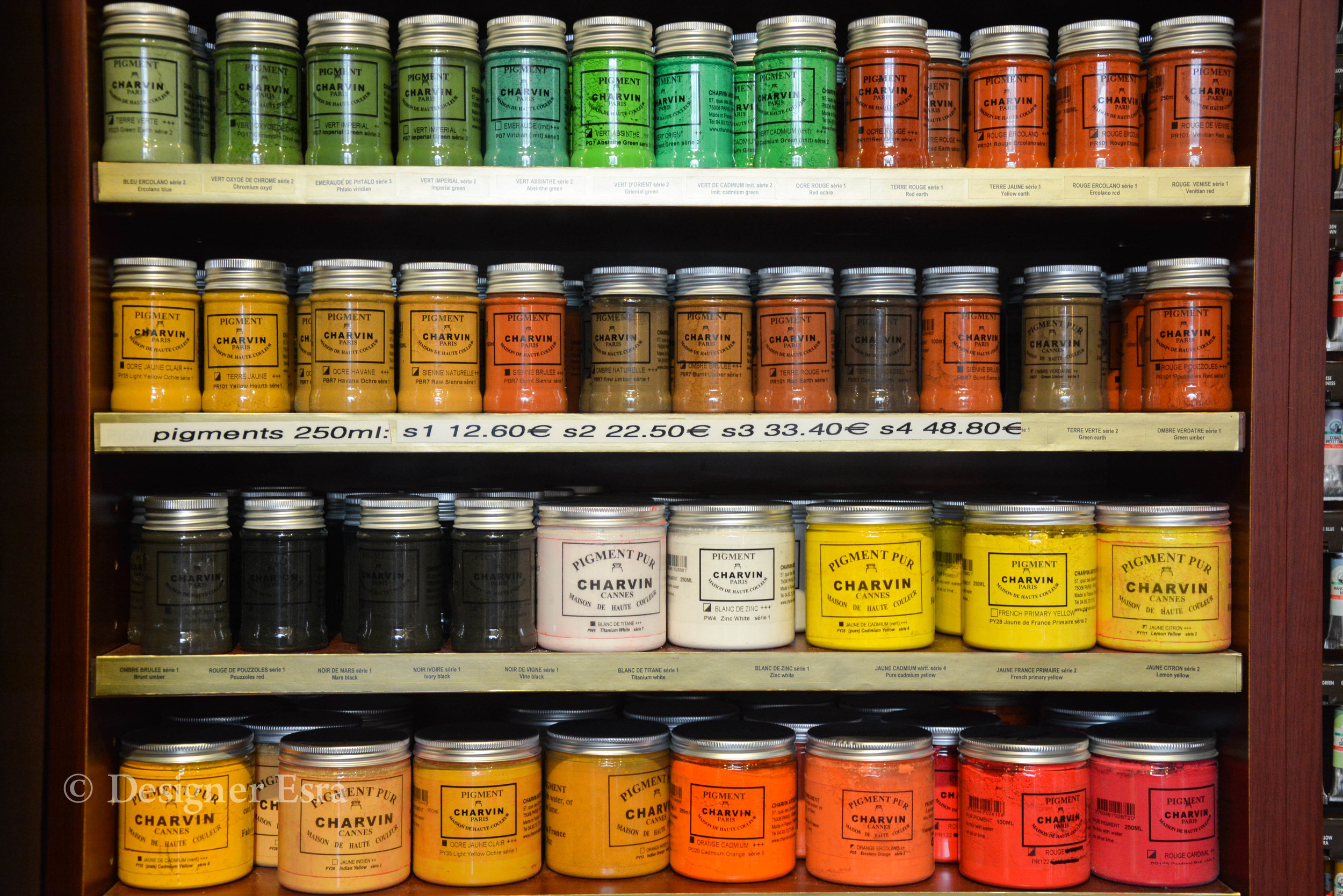 Pigments and Paints in Paris