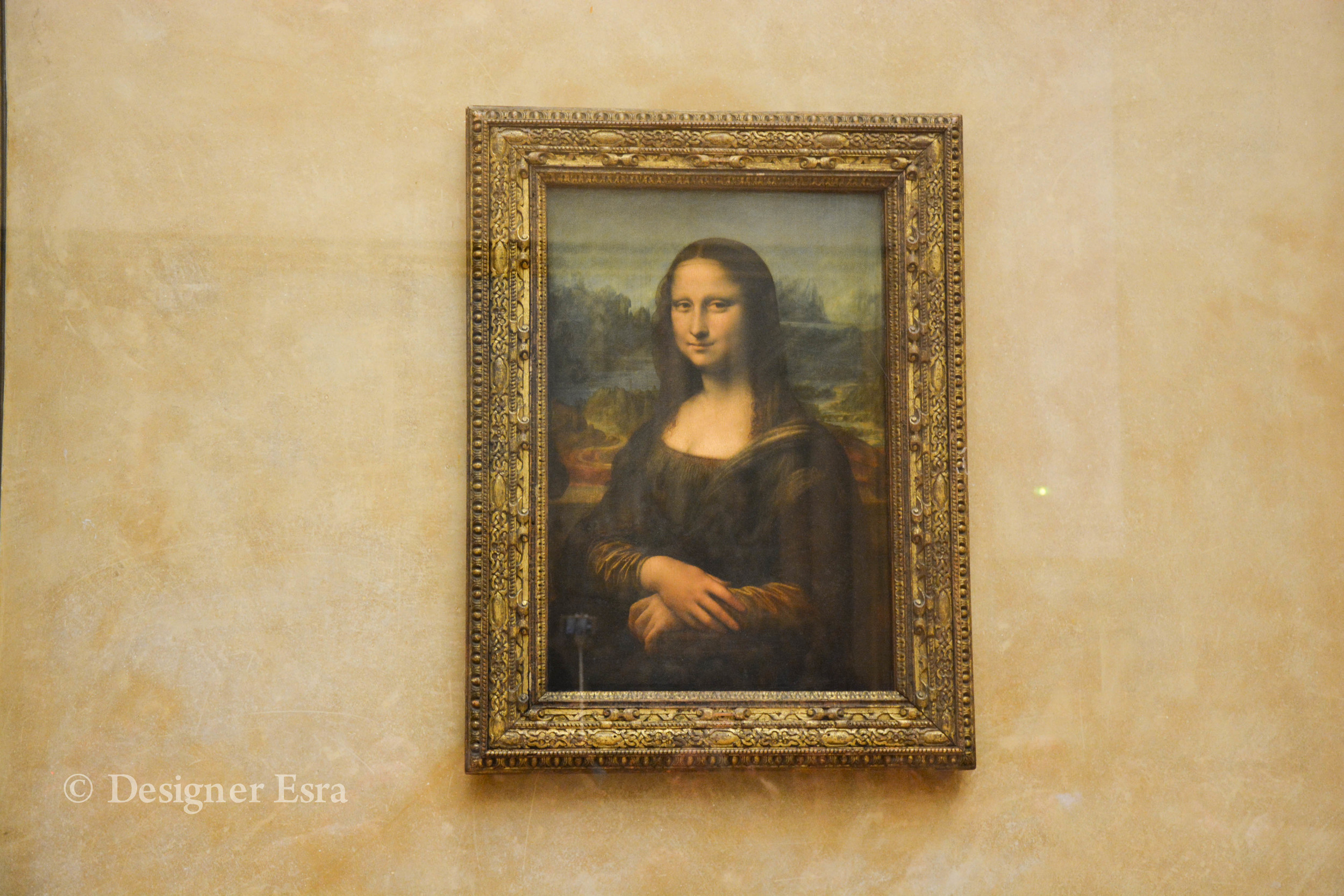 The Mona Lisa in the Louvre in Paris