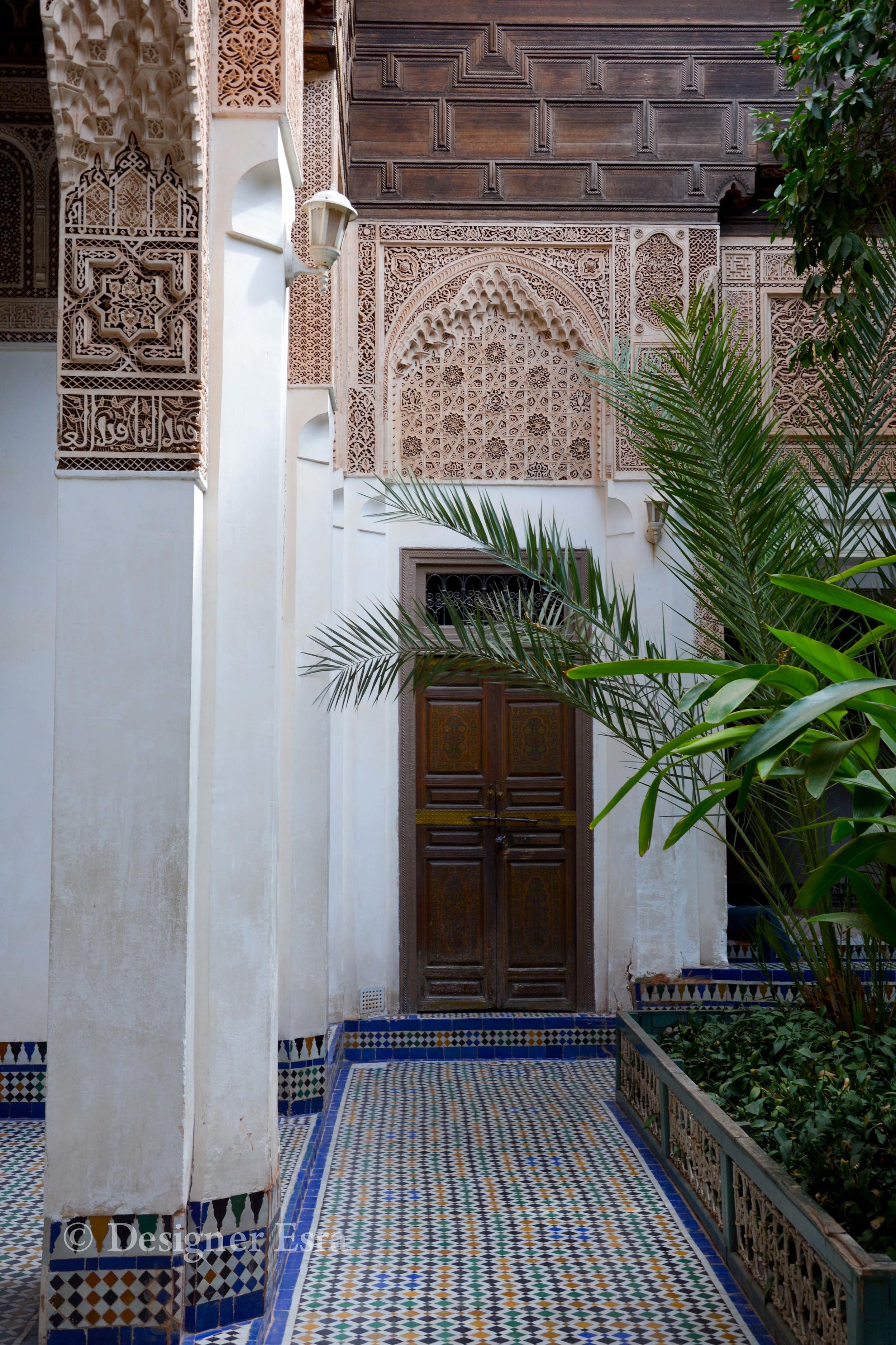 Zelij in Bahia Palace
