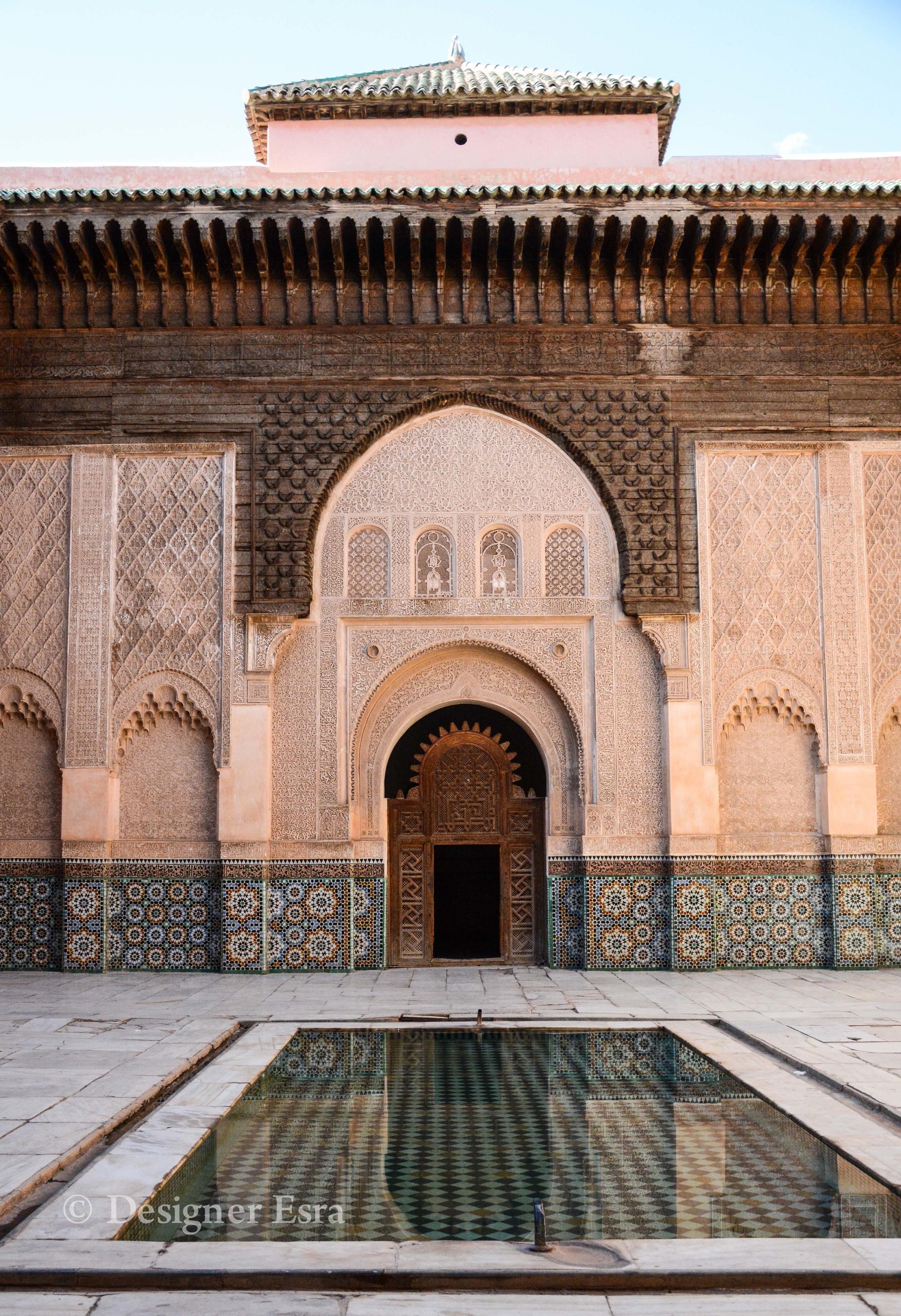 Beautiful Courtyard in Ben Youssef Madrasa