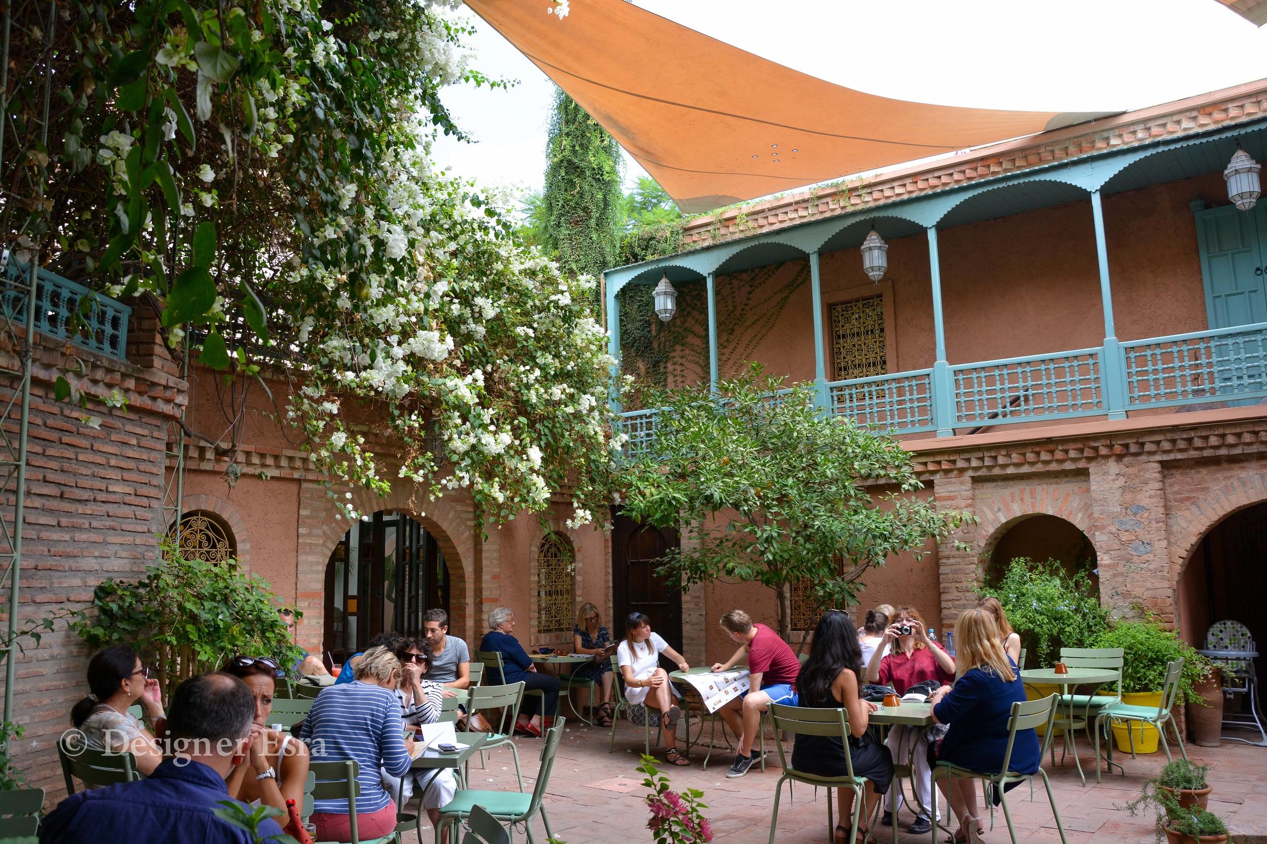 Majorelle Garden Cafe shop in Marrakech