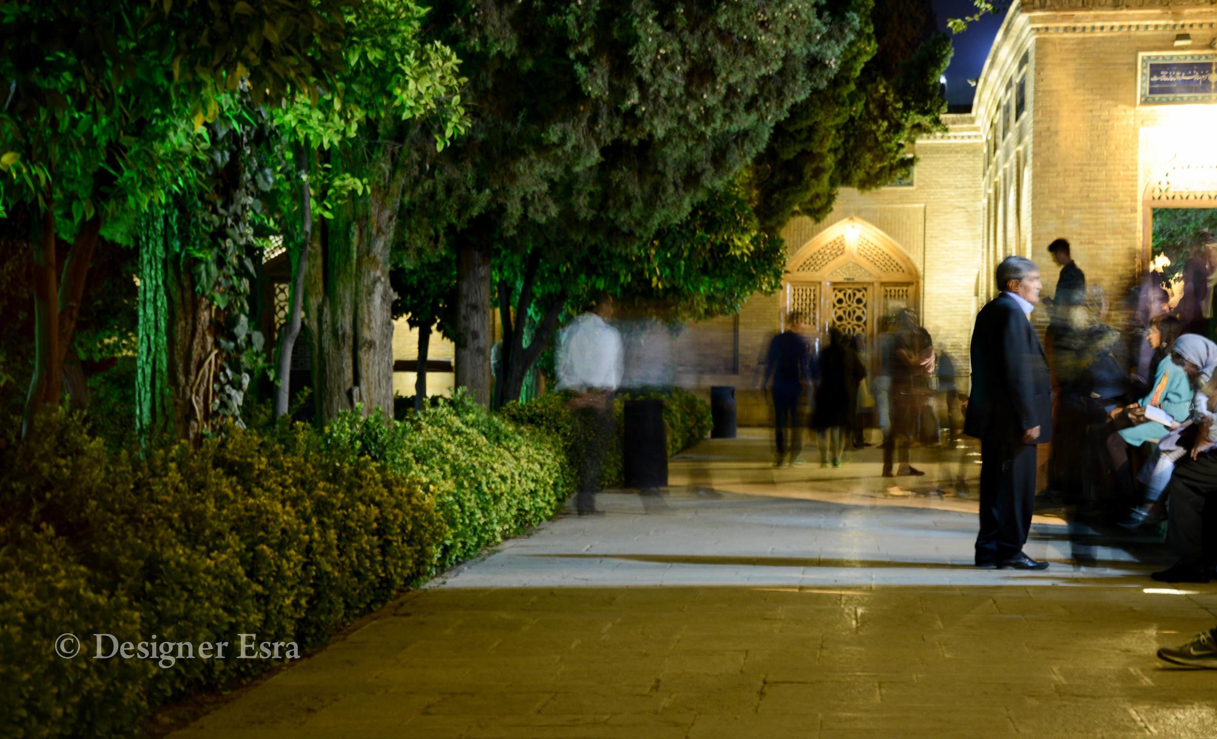 The visitors of Hafiz Tomb