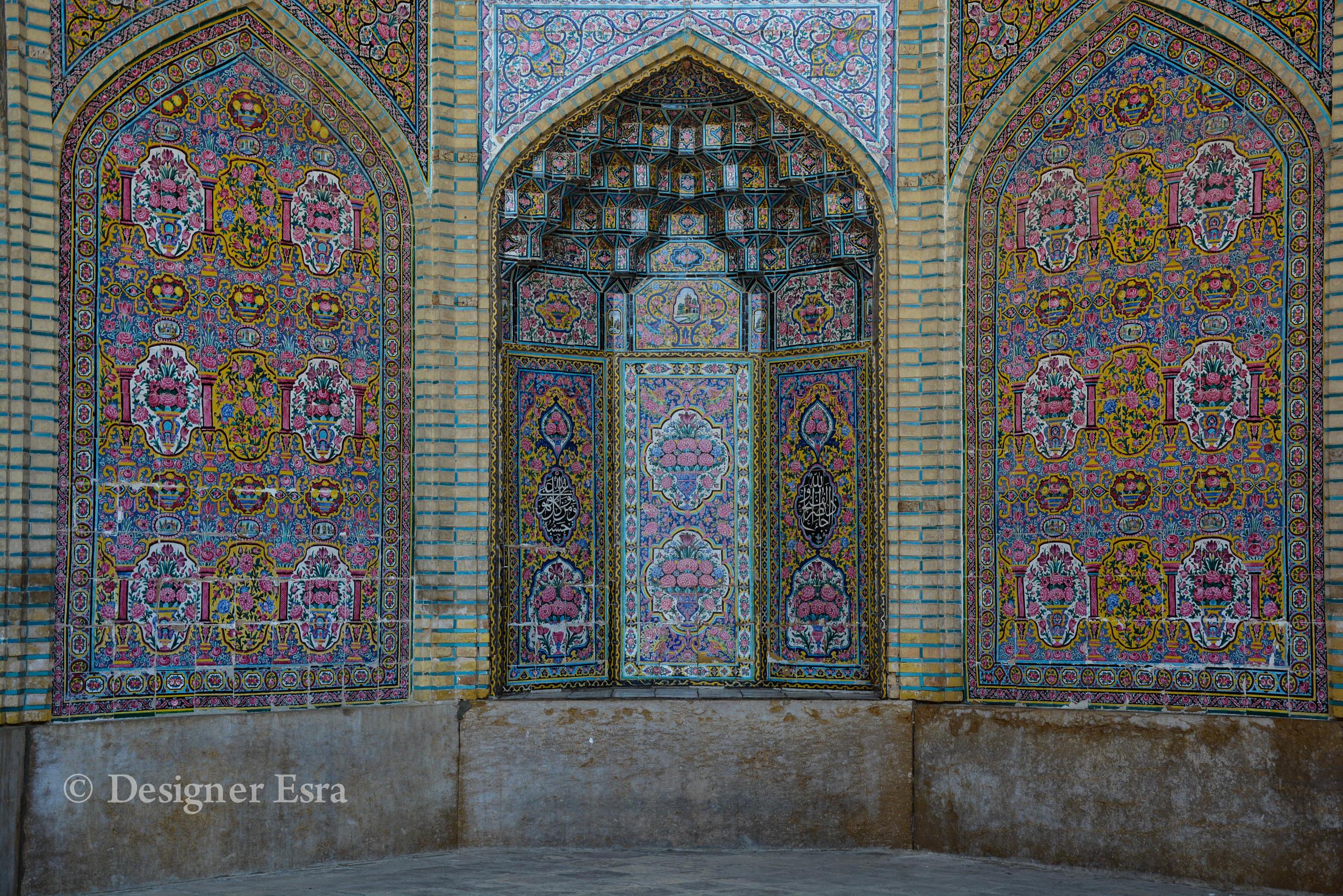 Intricate patterns in Nasir Almulk Mosque ( Pink Mosque)