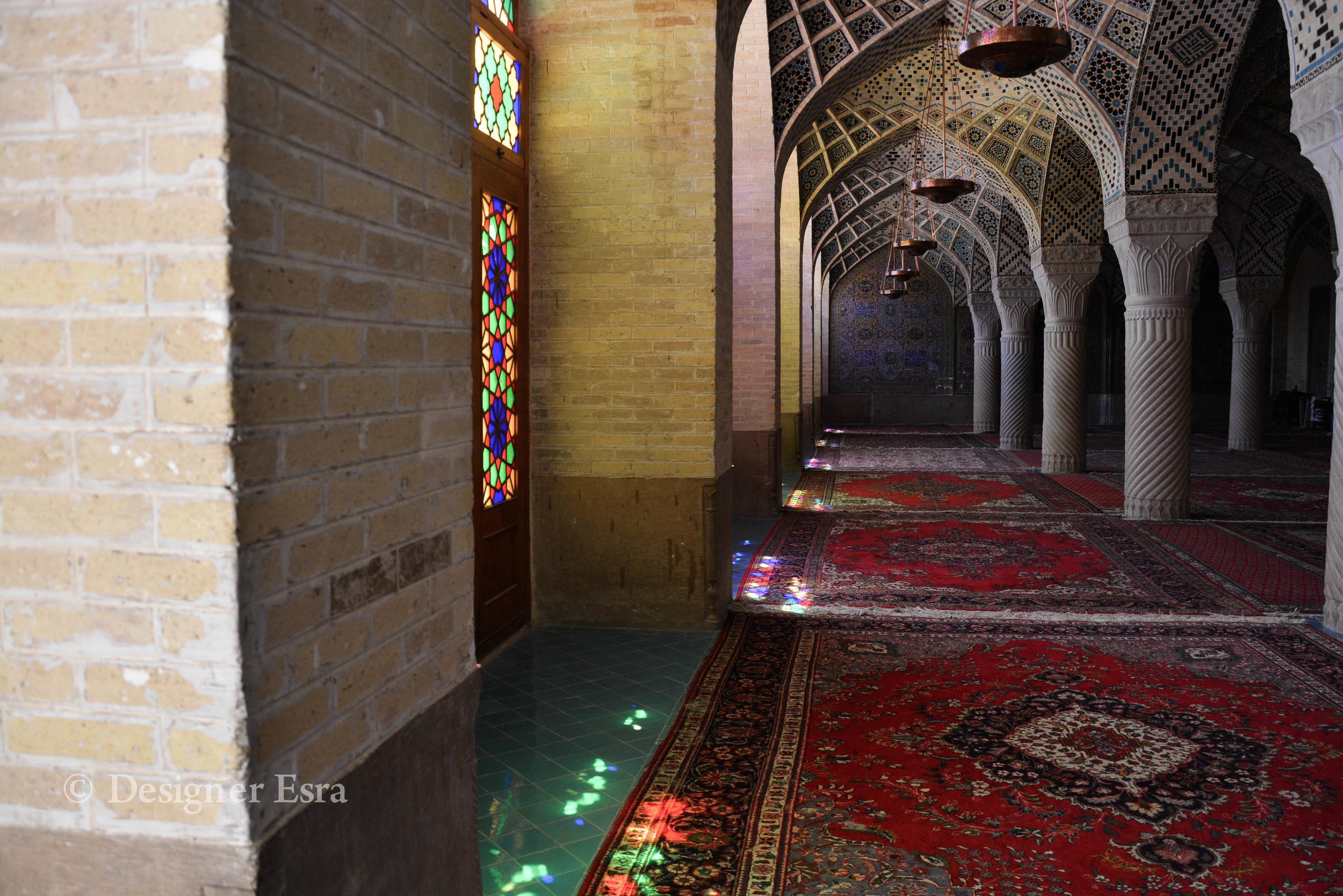 The interior of Nasir Almulk Mosque ( Pink Mosque)