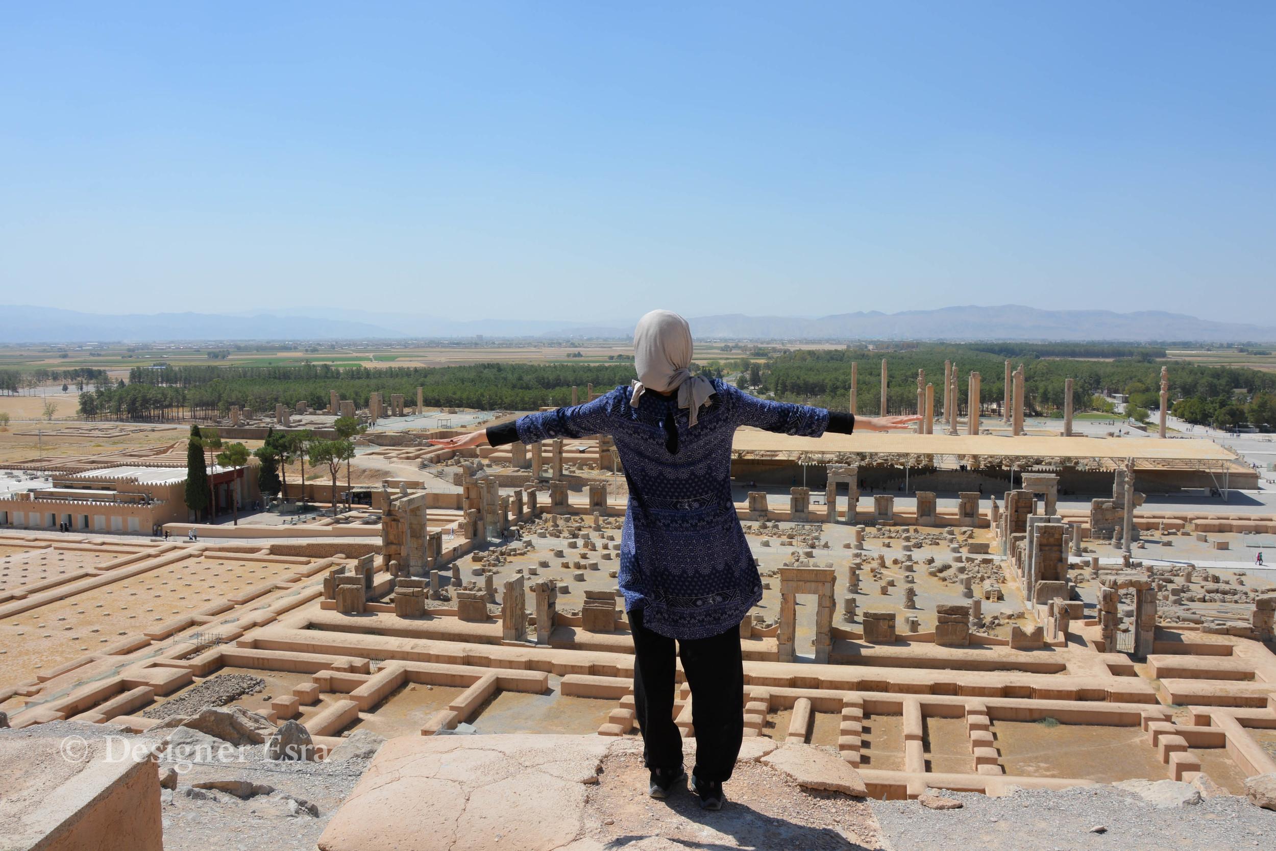 Flying in Persepolis Iran تخت جمشيد