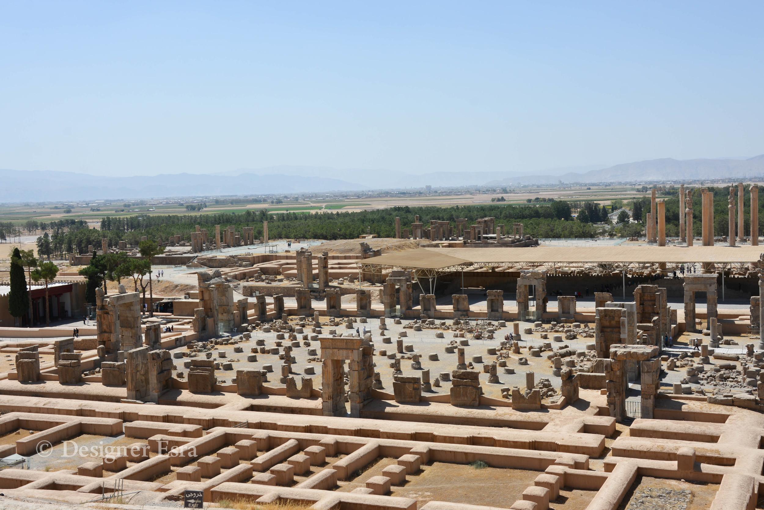 Top view of Persepolis Iran تخت جمشيد