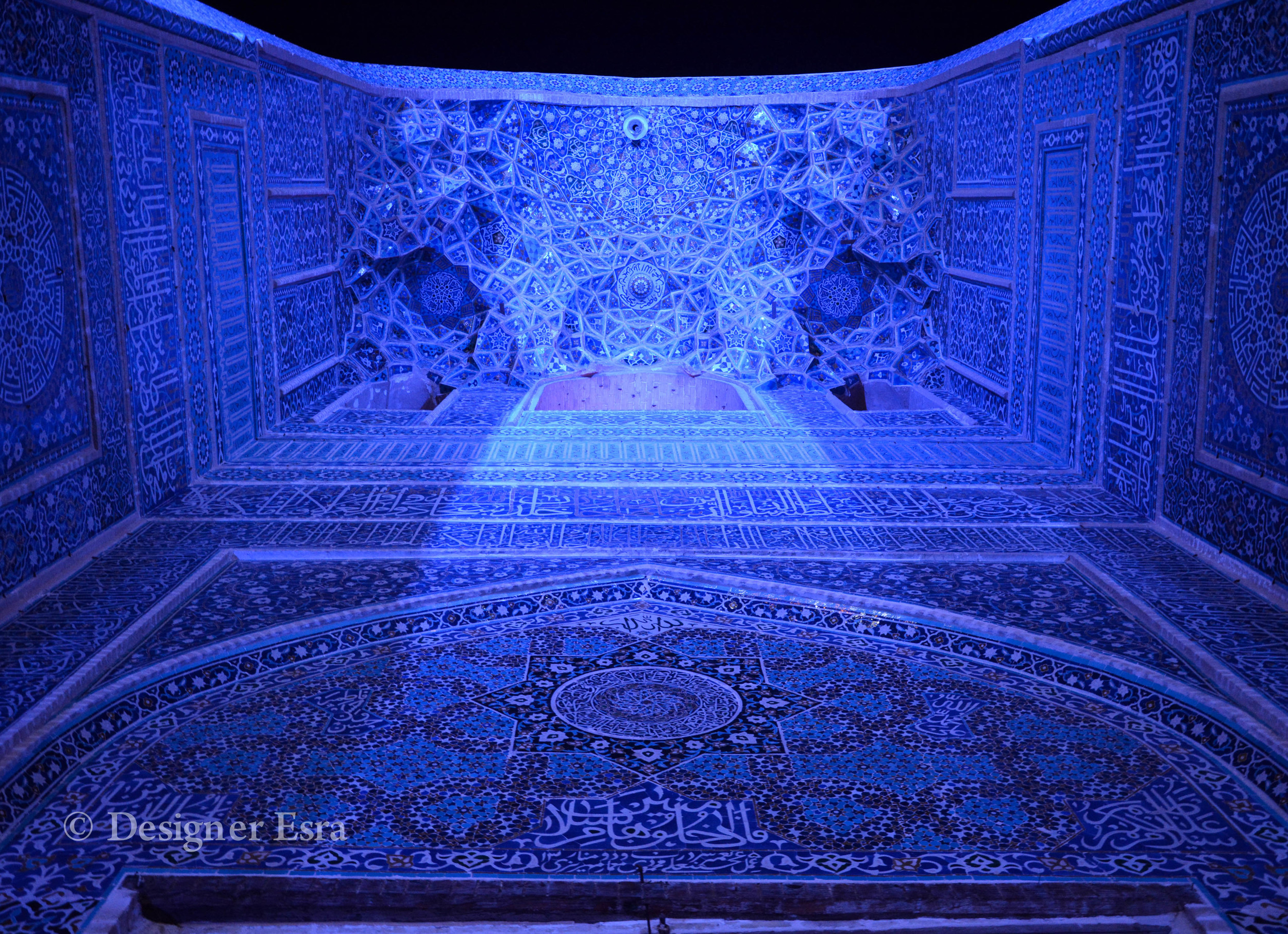 Jame'a / Friday Mosque in Yazd, Iran at night