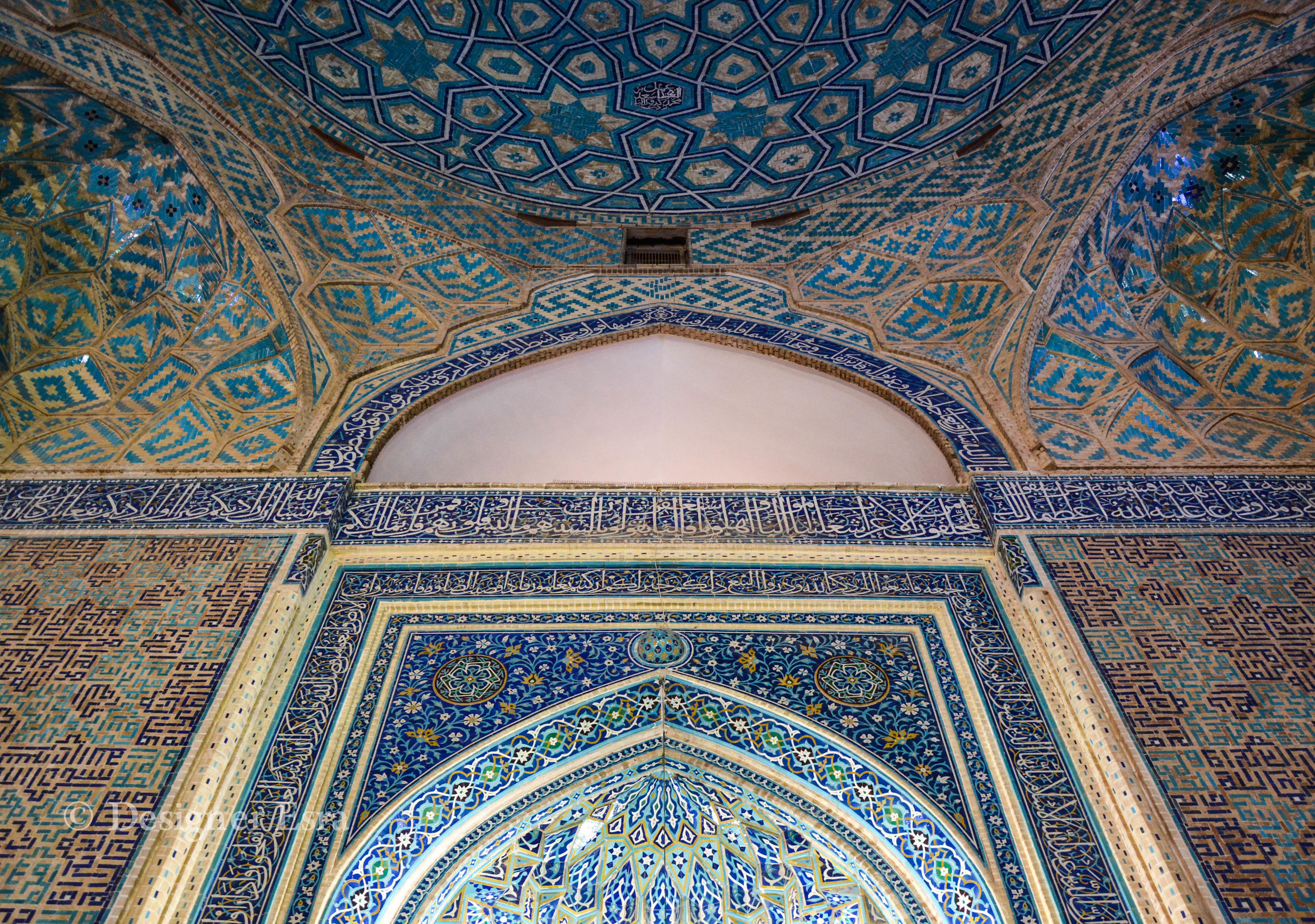Inside Jame'a / Friday Mosque in Yazd, Iran