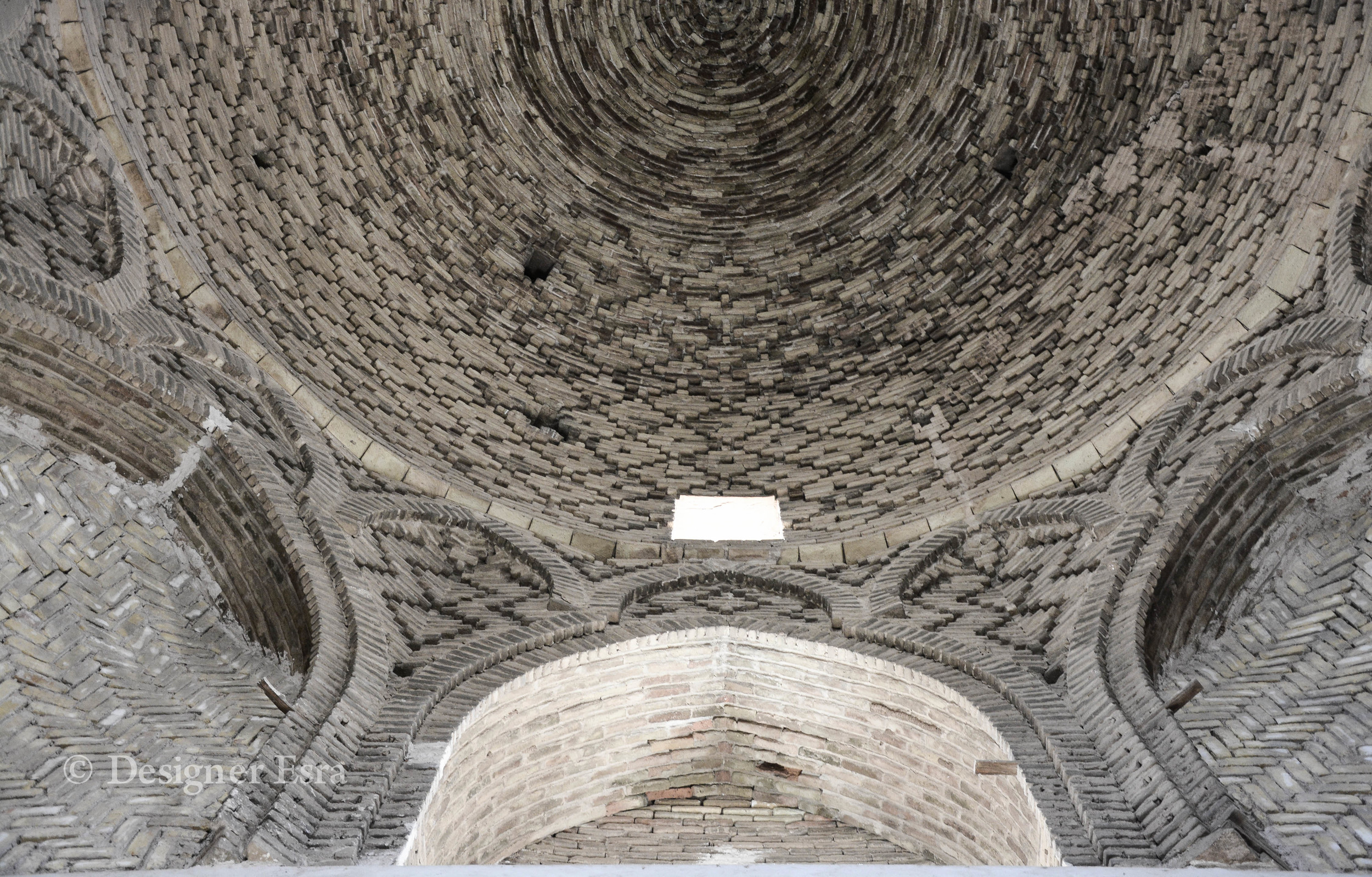 The ceiling in Jamea Mosque of Naein