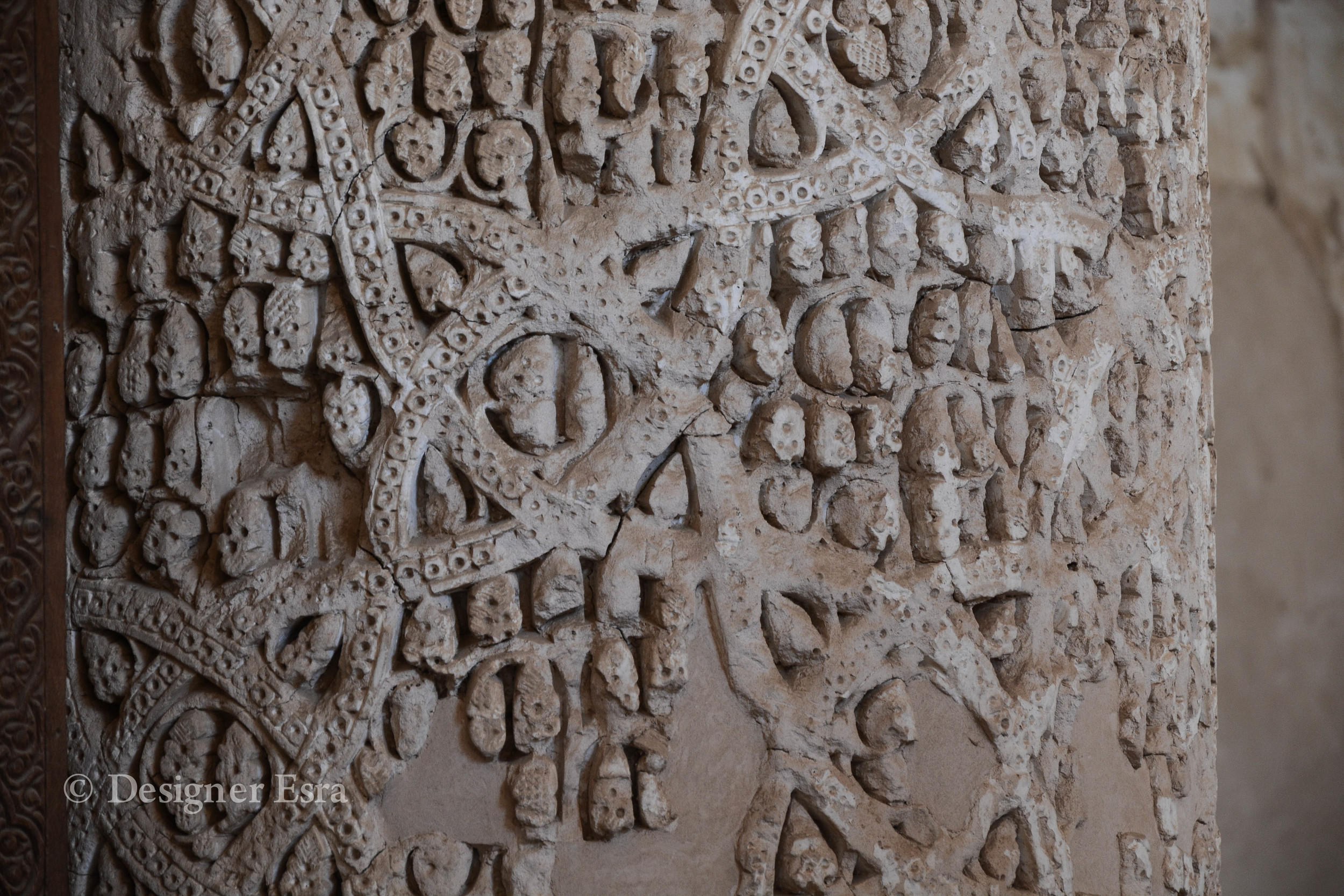 One of the carved patterns in the Jamea Mosque of Naein