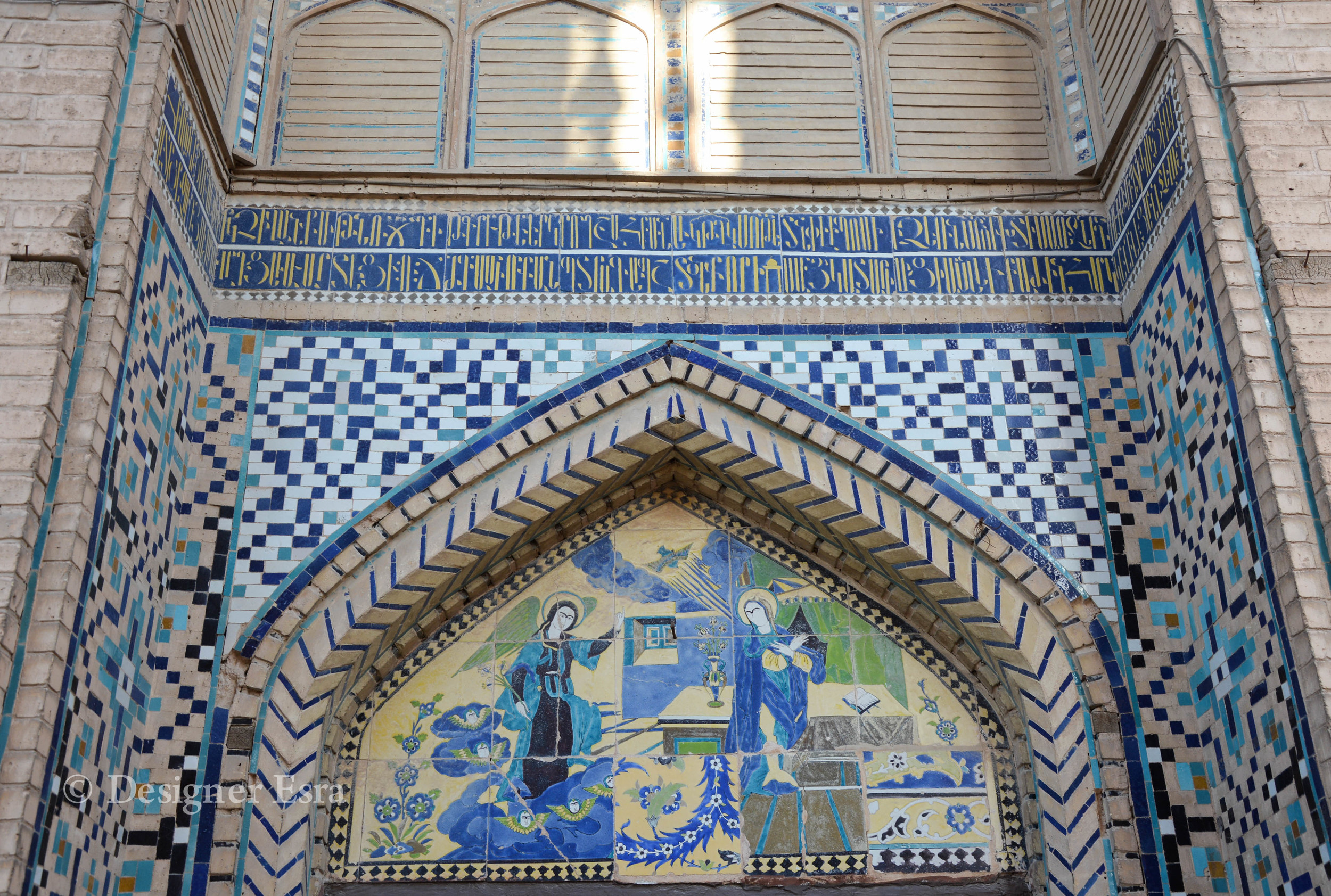 Armenian church in Julfa in Iran