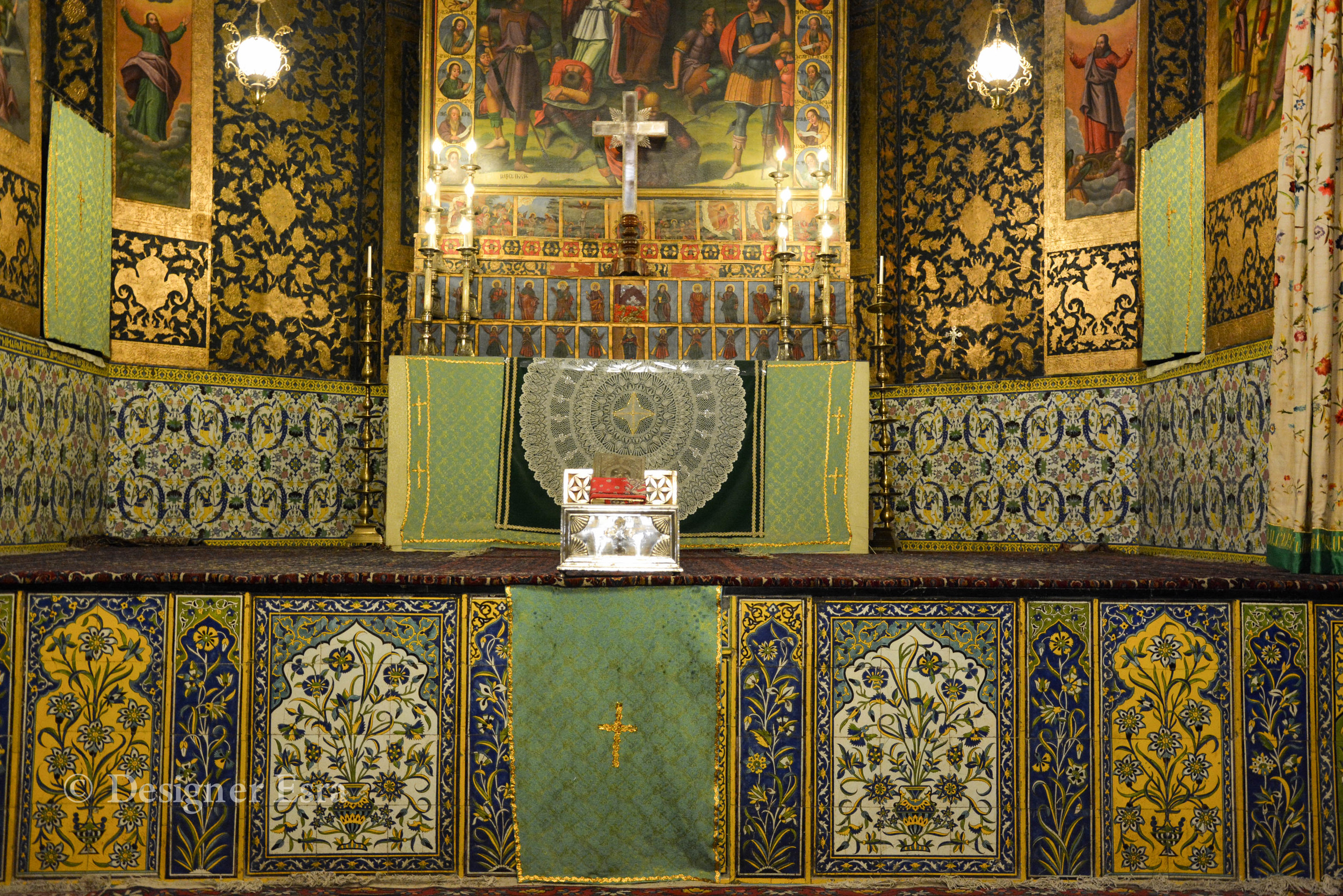 Persian Christian Biomorphic Patterns in Iran