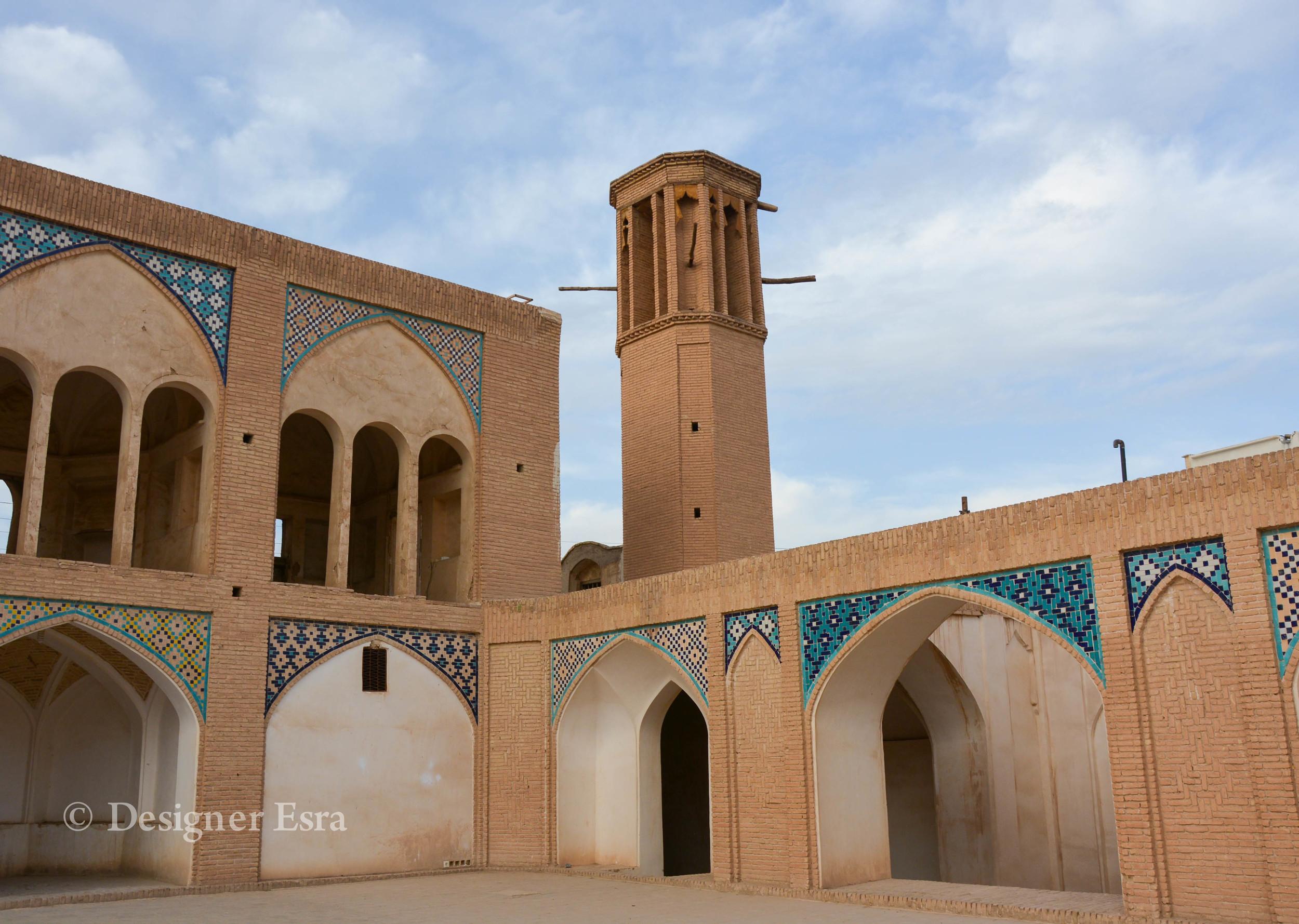 Windcatcher in Agha Bozorg Mosque in Kashan, Iran