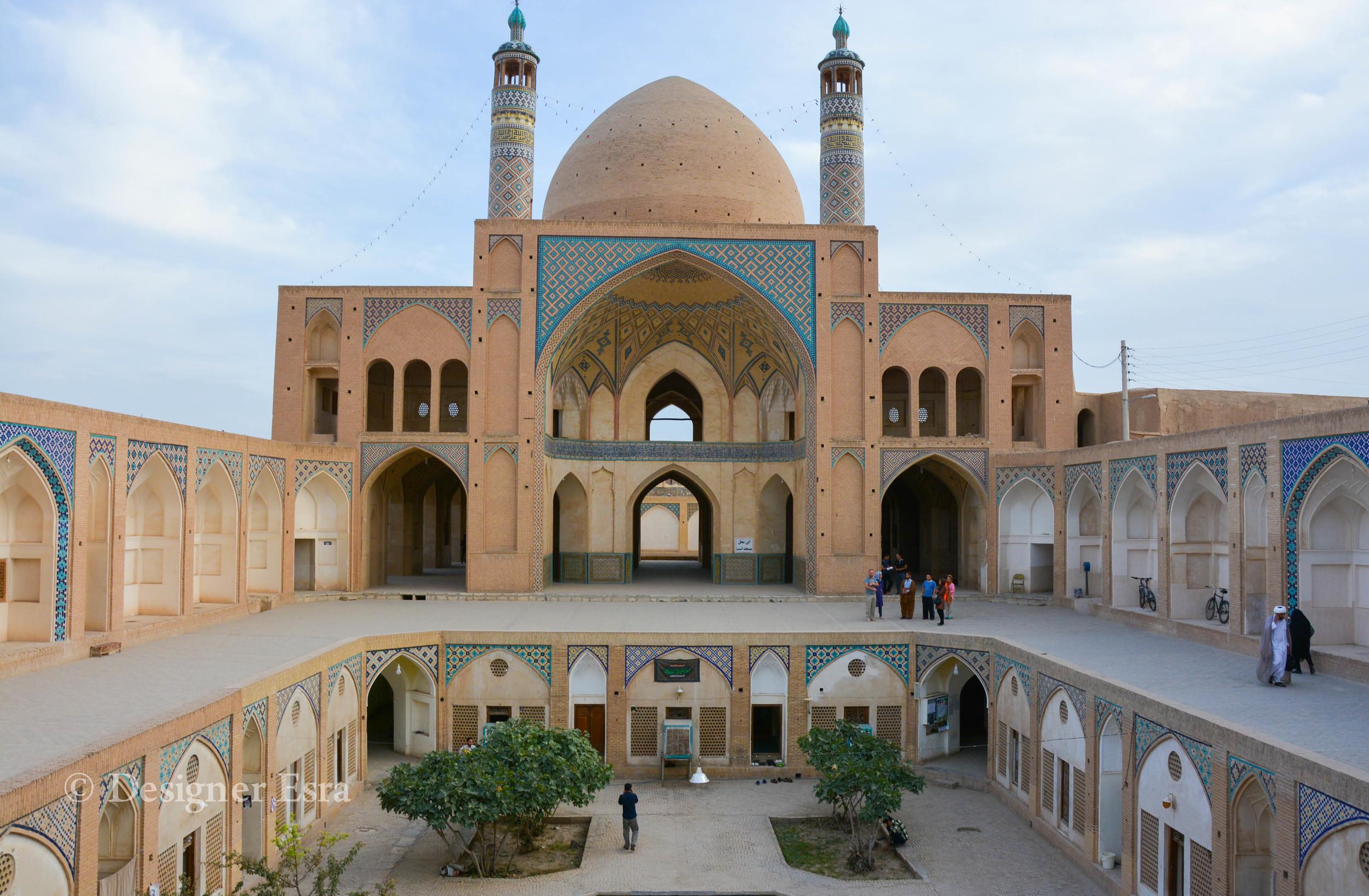 Agha Bozorg Mosque in Kashan, Iran