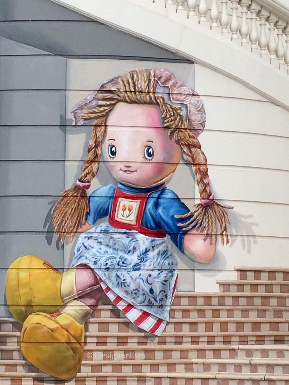 3D Doll Street Painting in Dubai