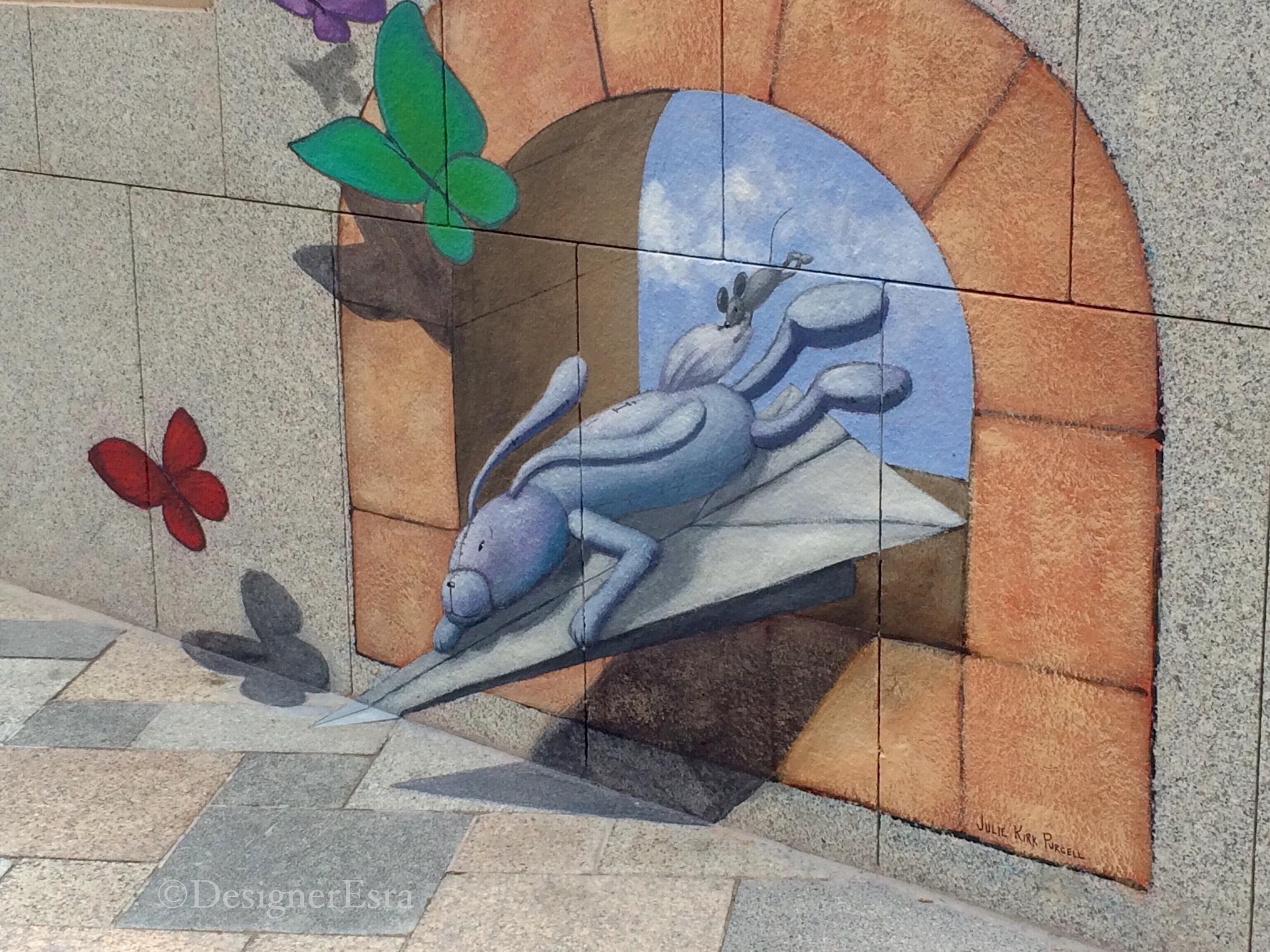 3D Rabit Street Painting in Dubai