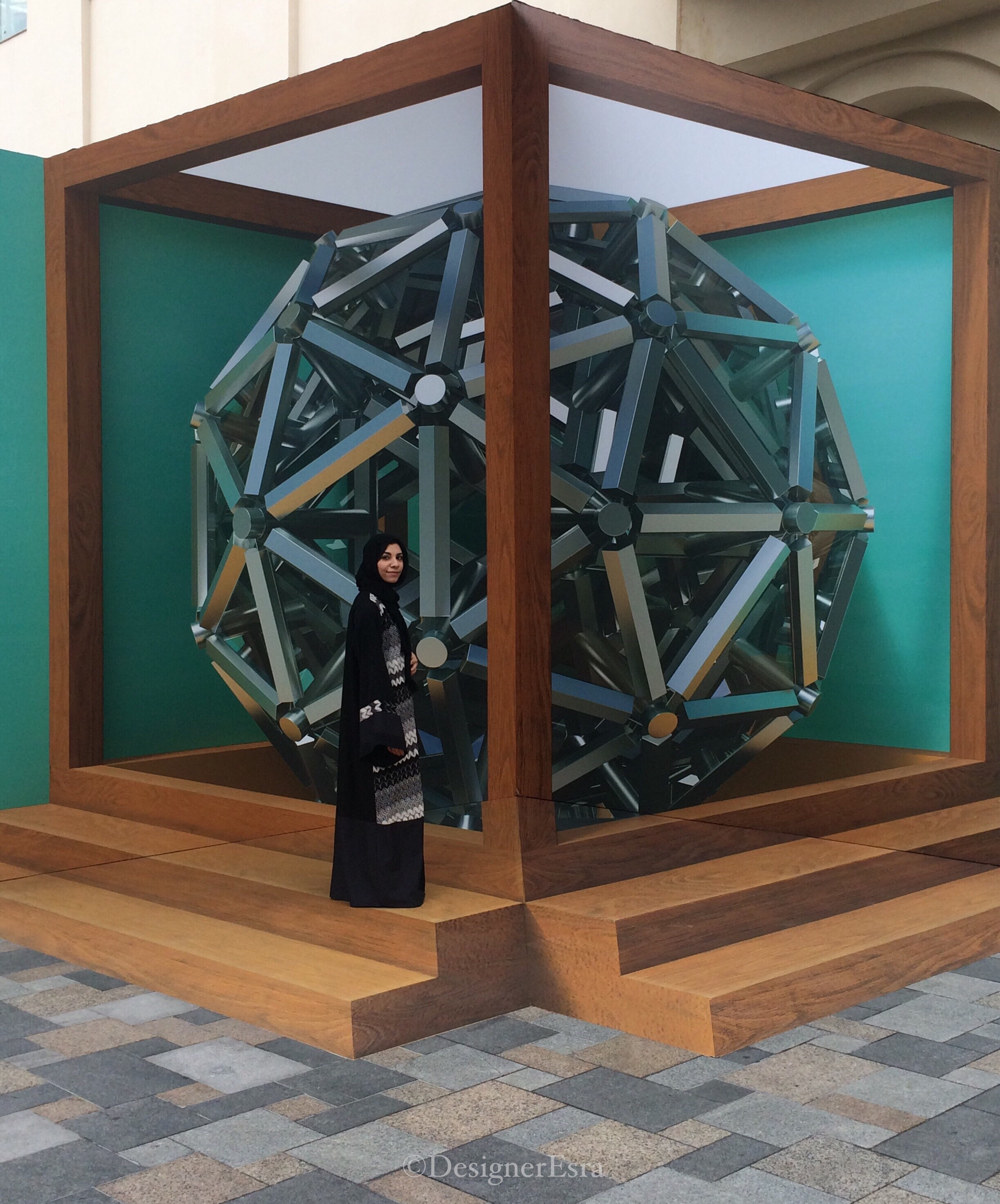 3D Cube Street Painting in Dubai