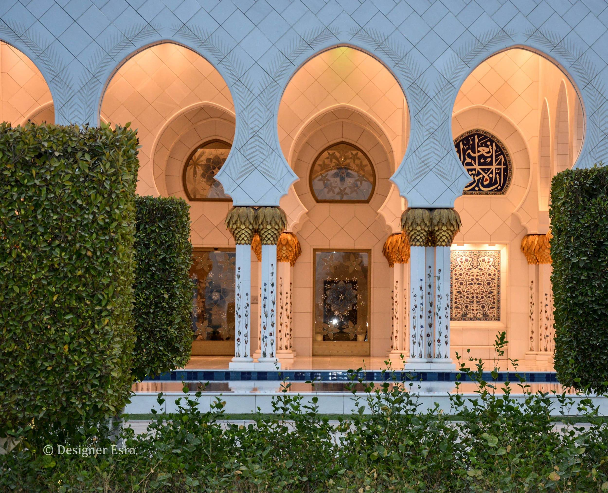 Nature and Architecture in Sheikh Zayed Grand Mosque