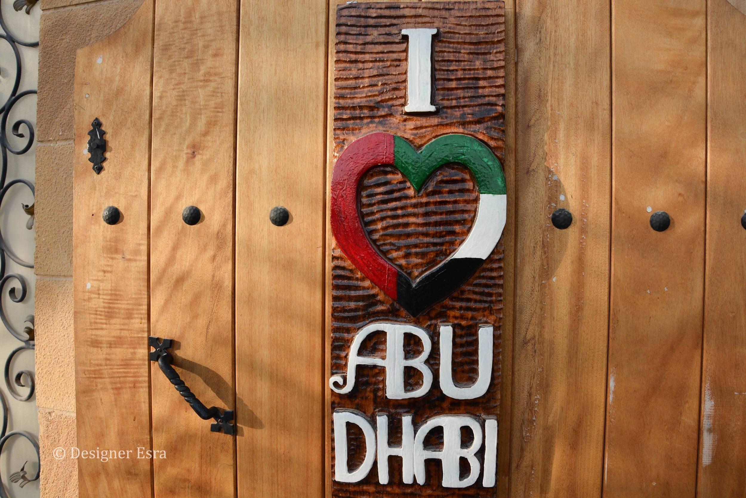 I love Abu Dhabi