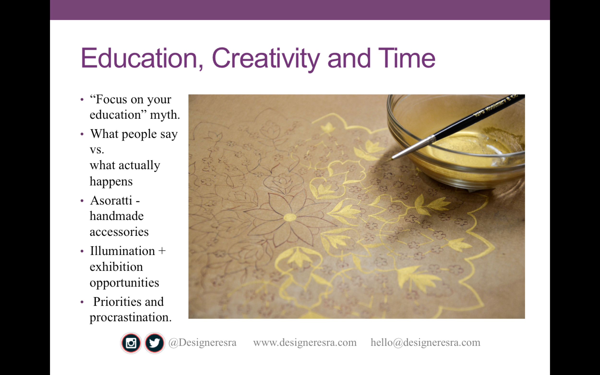 Education, Creativity and Time