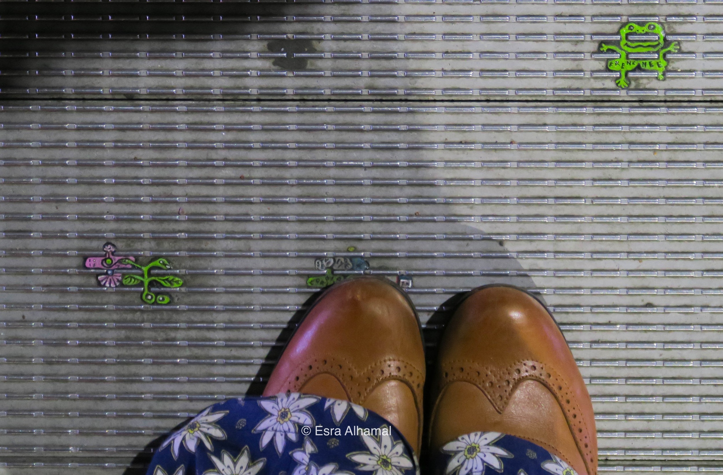 Look down and carefully at the bridge you are walking on, London
