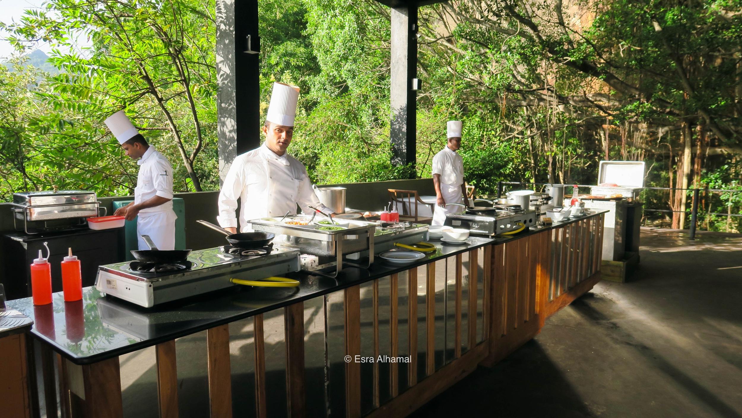 Fresh, ready to order breakfast at Heritance Kandalama