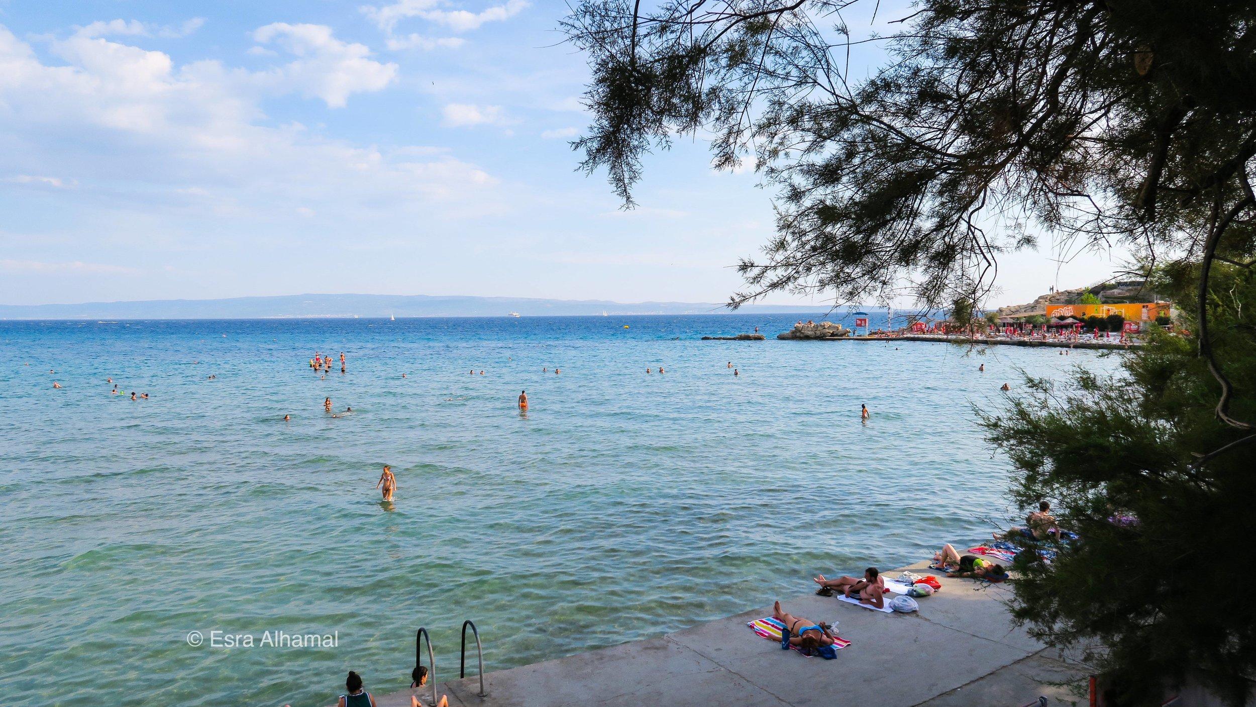 The beach in Split