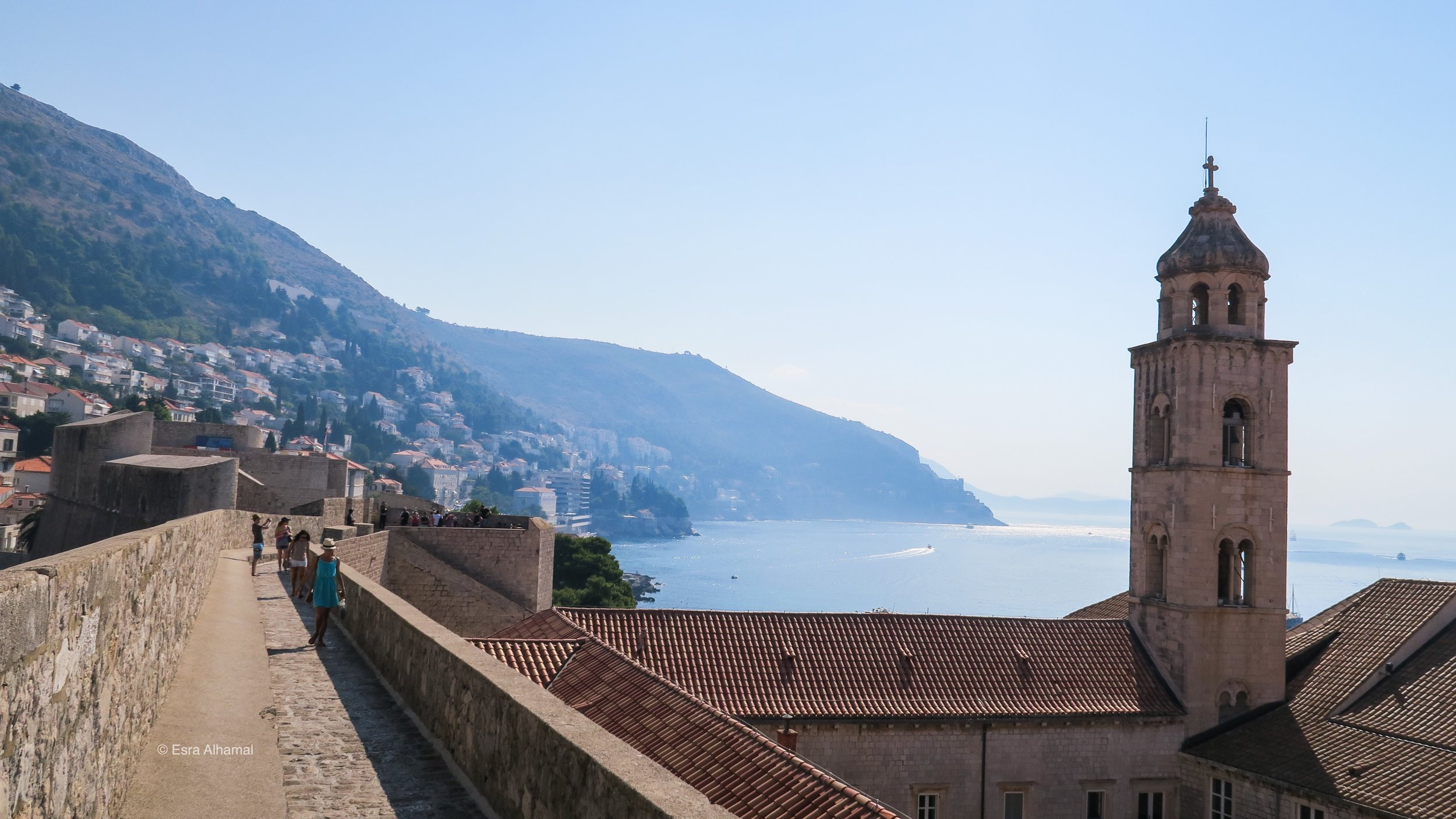 View from the city wall walk in Dubrovnik