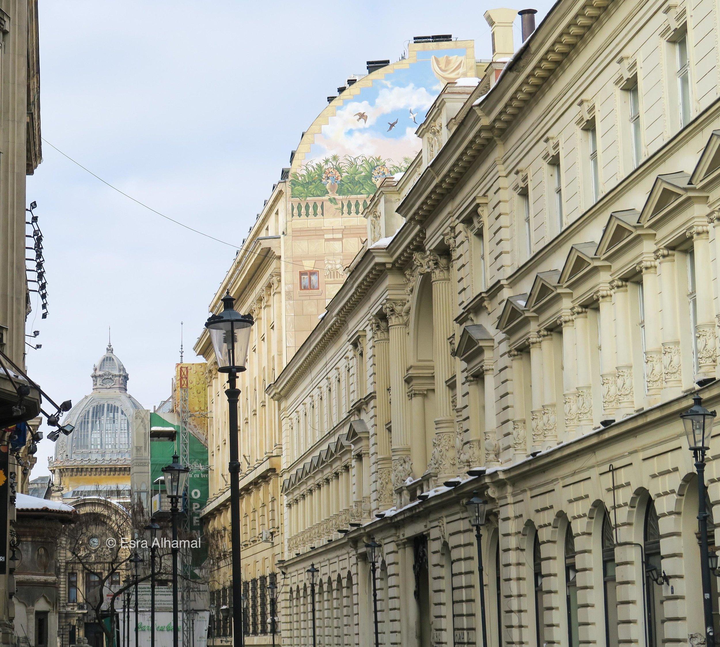 شارع في المدينة القديمة في بوخرست