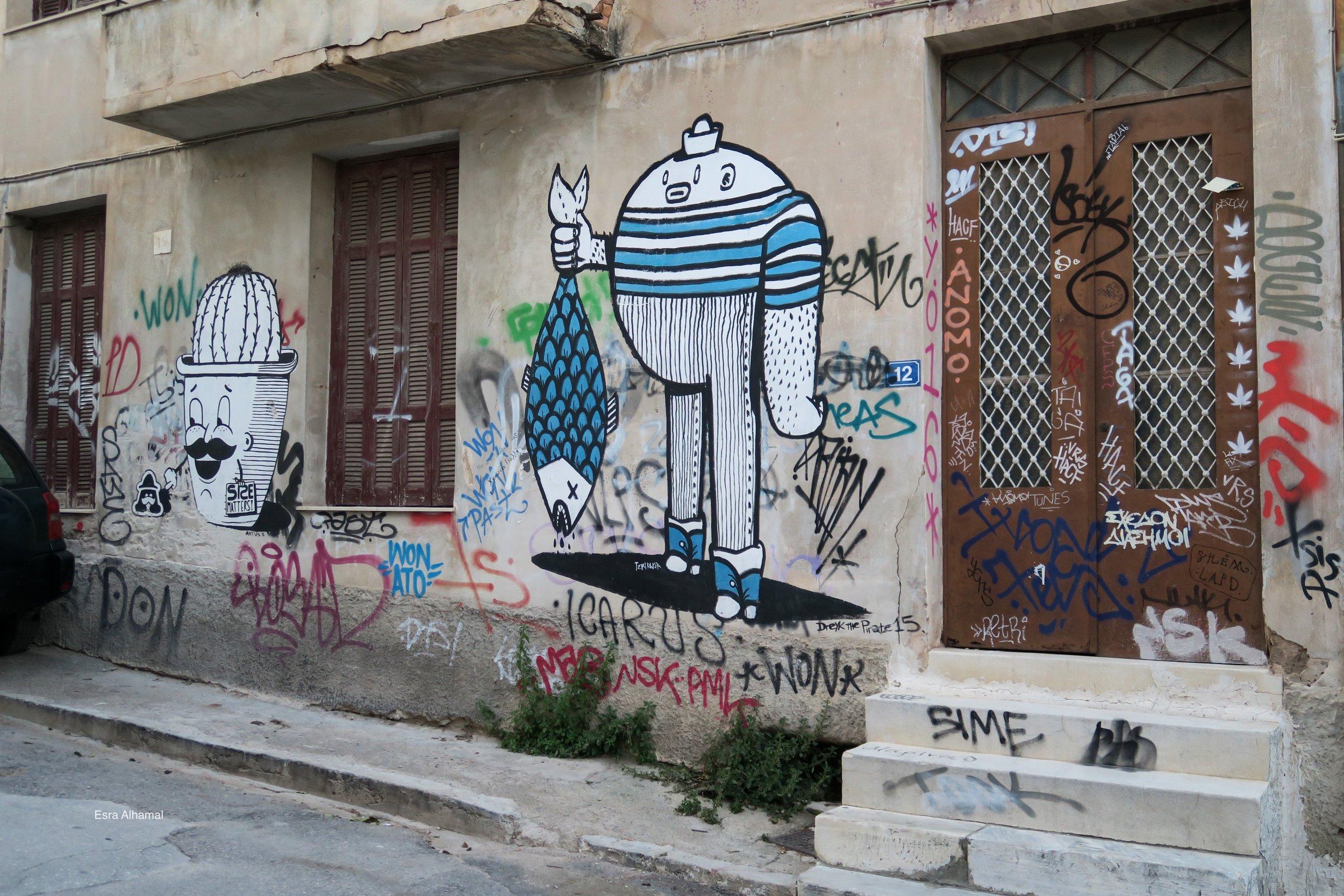 Fisher man Graffiti