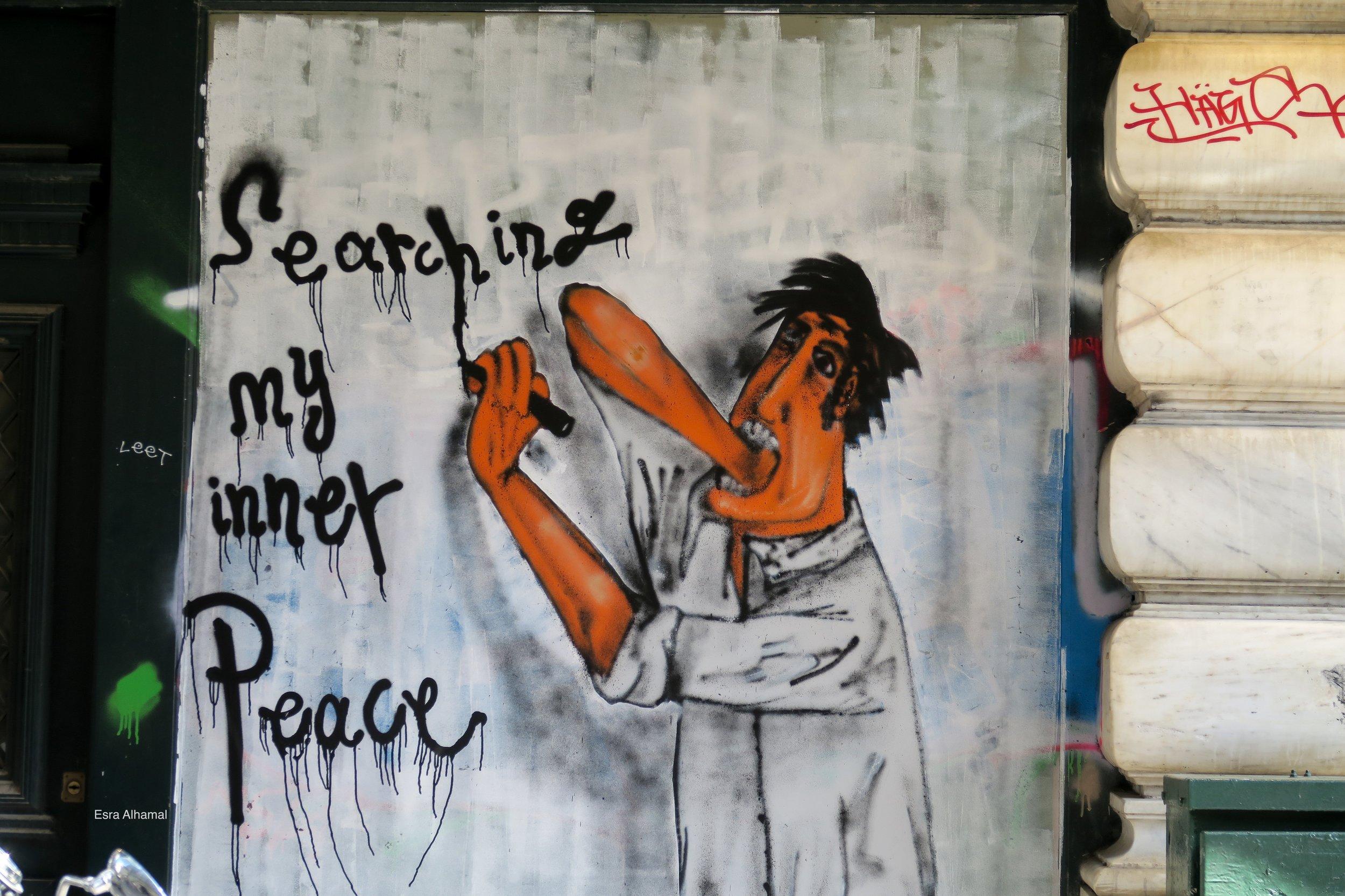 Searching My Inner Peace Graffiti