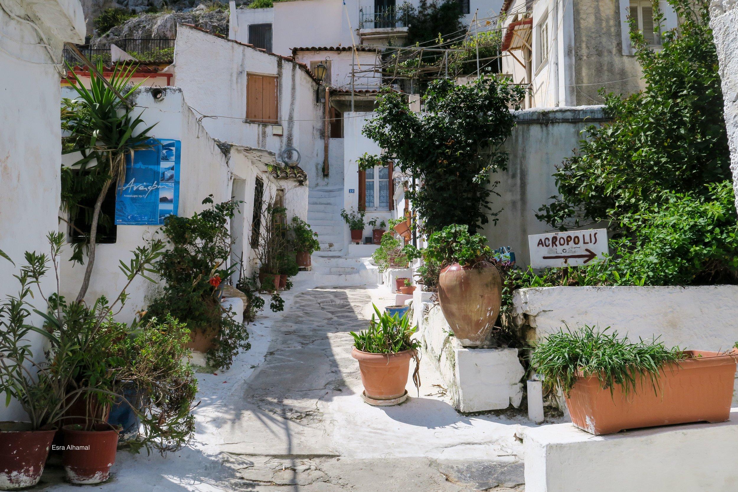 Plaka, Heading to Acropolis