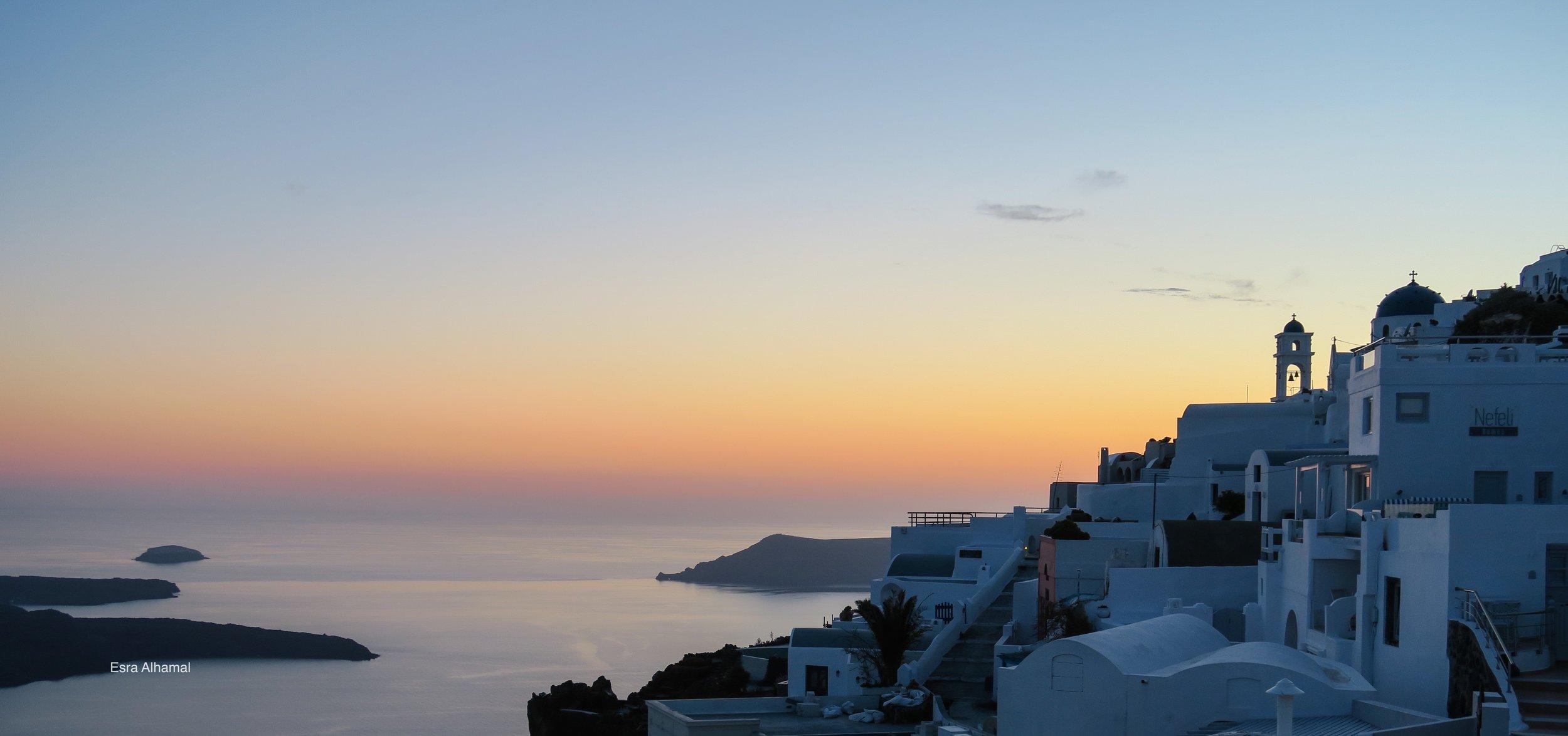 The Sunset in Santorini