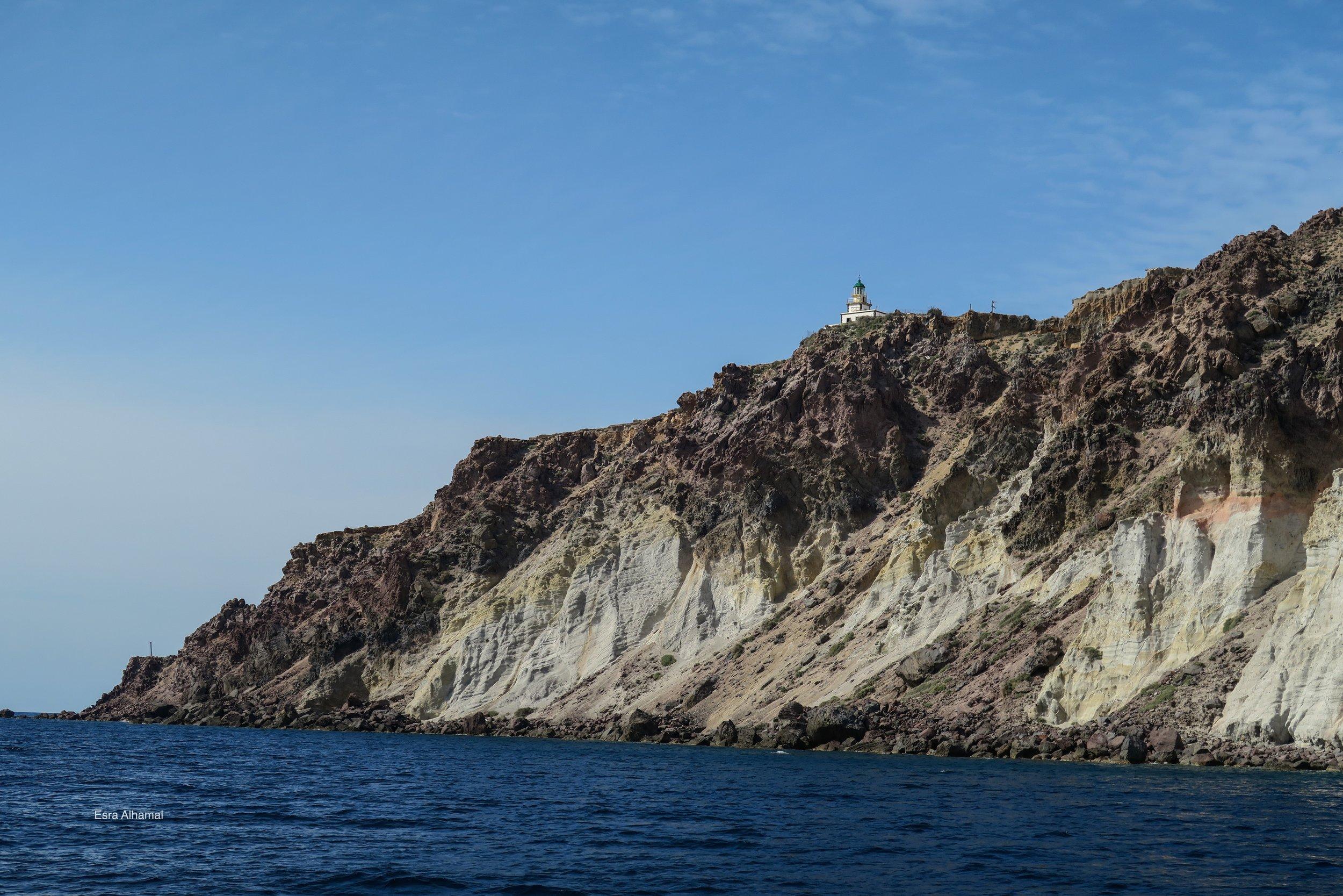 Lighthouse in Santorini