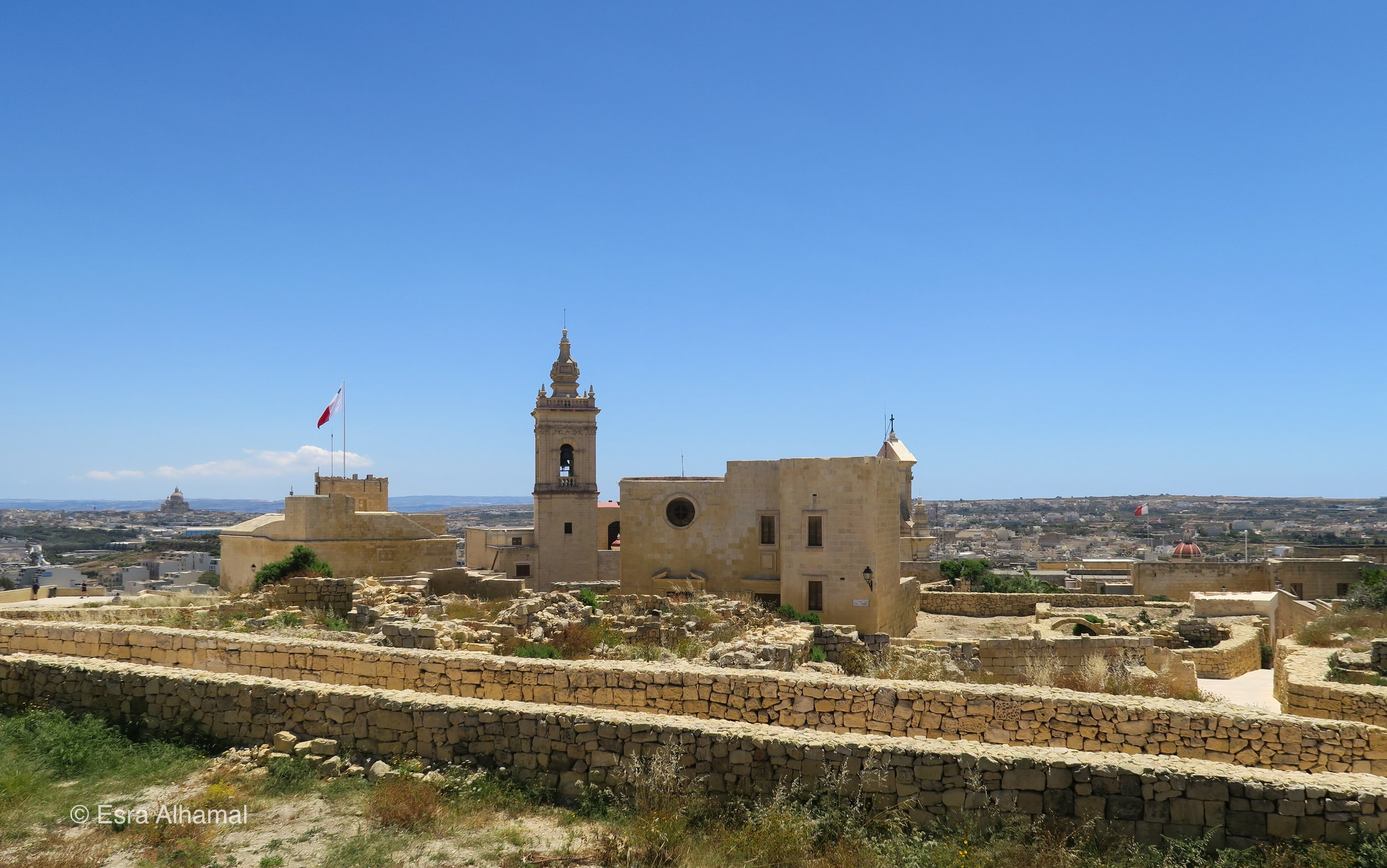 Citadel in Vitoria - for 360 view of Gozo
