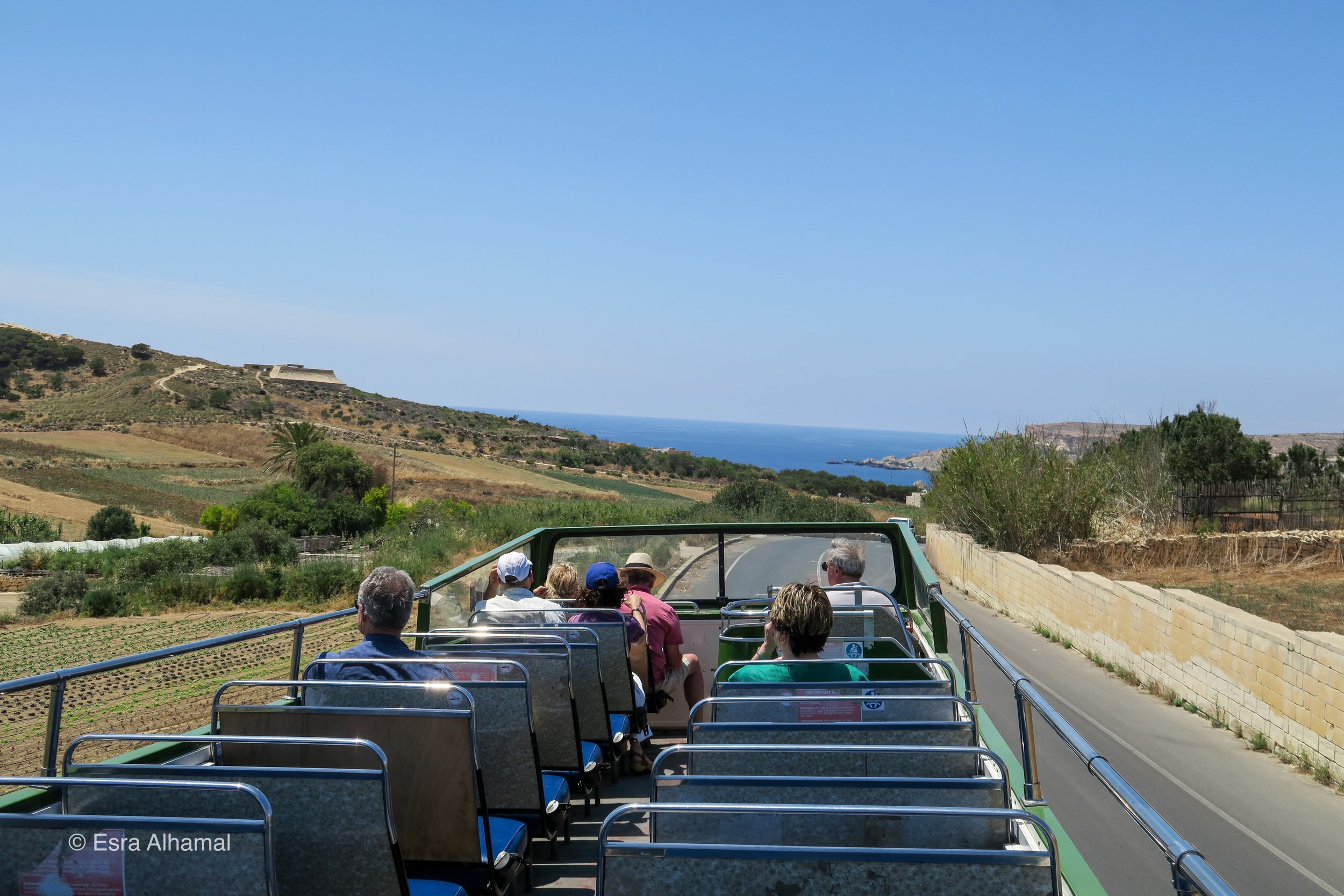 The Hop on and Hop off Bus in Malta