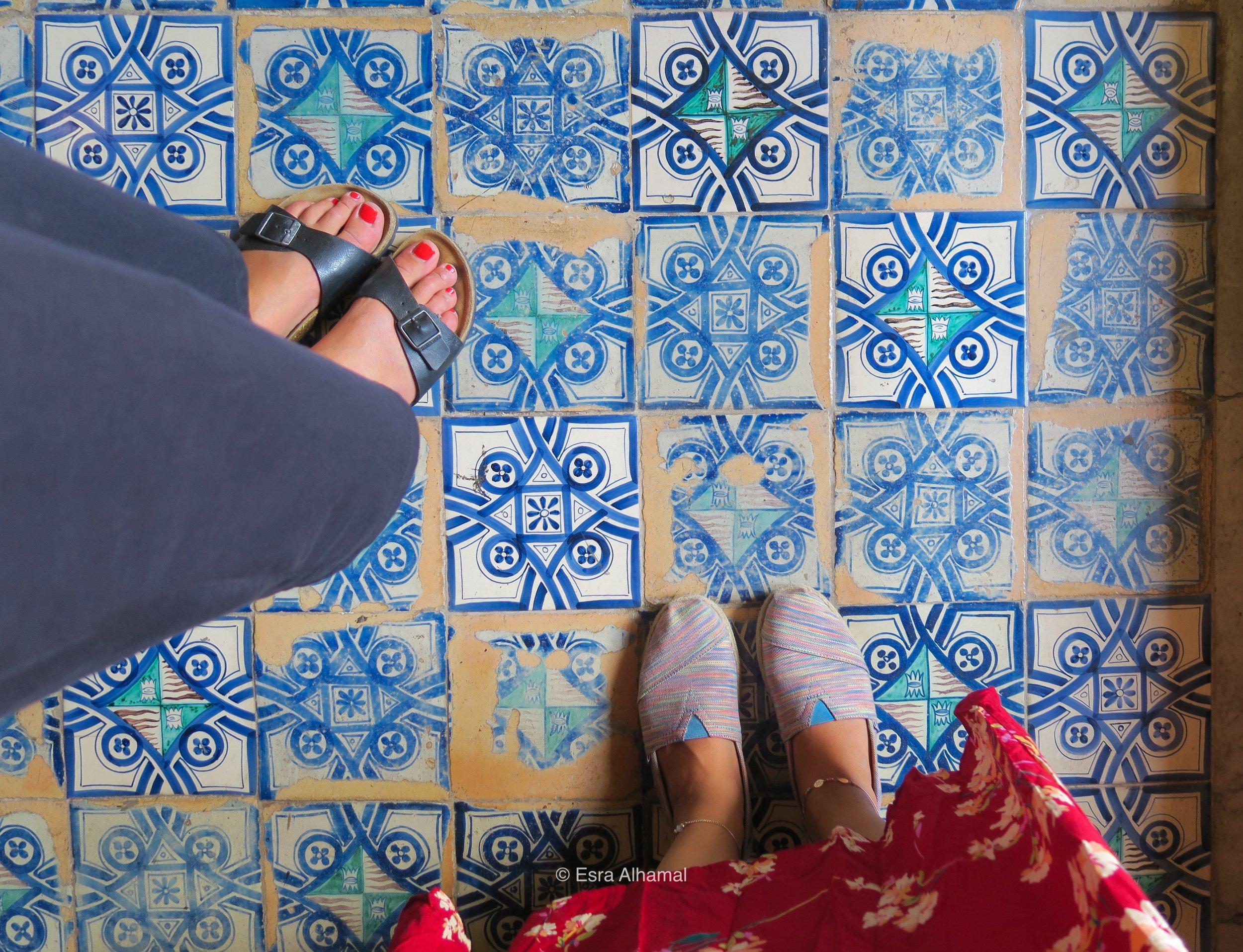 Tiles in Vatican City