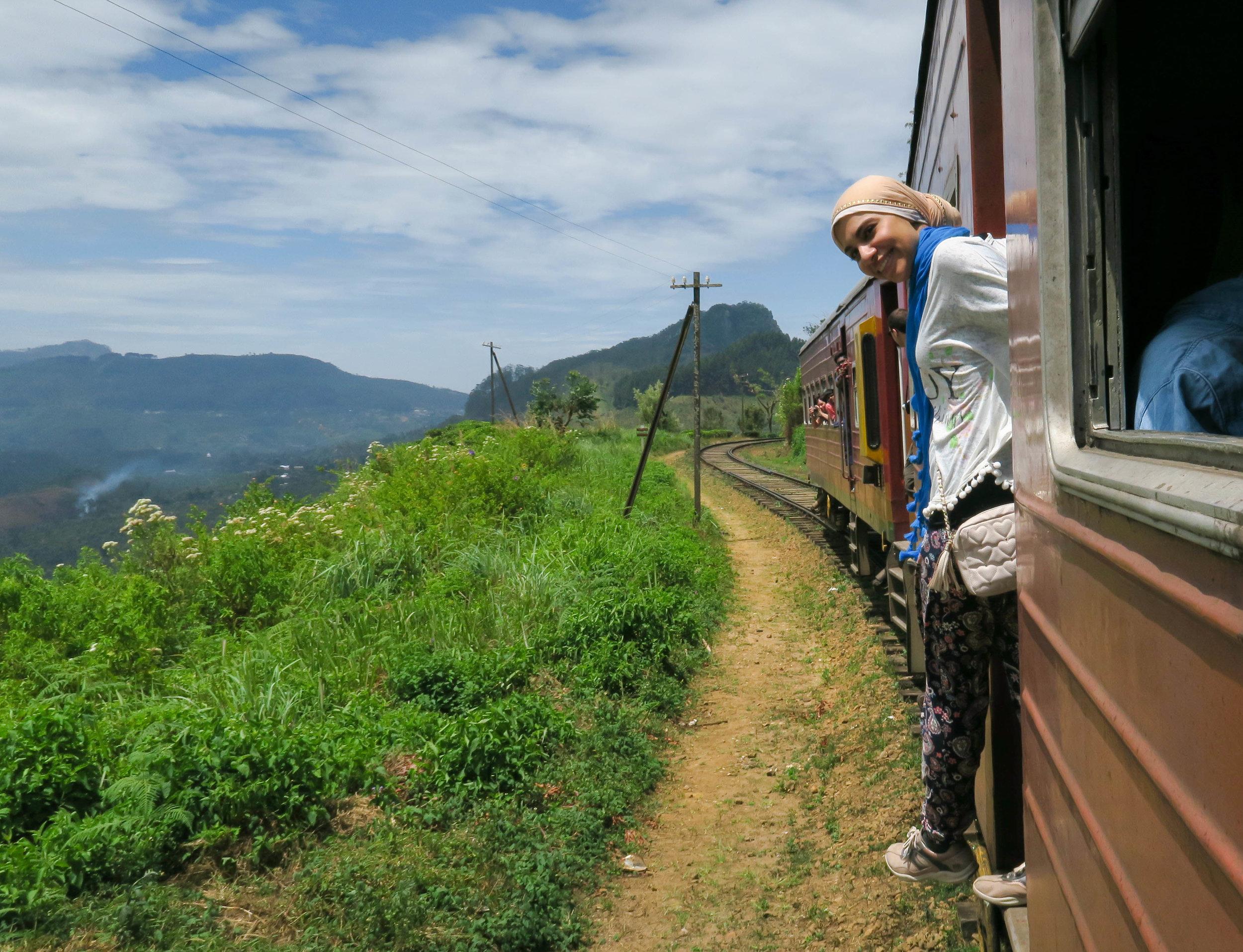 The train in Sri Lanka