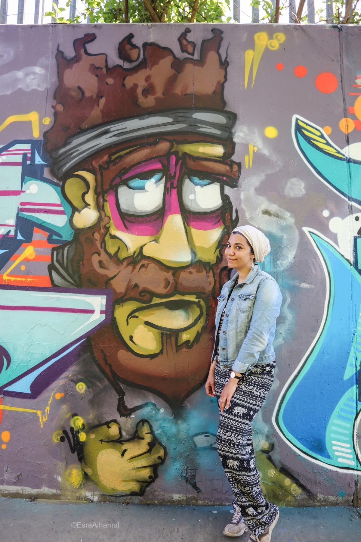 Hijab and Grafitti - Fidget One British Artist | Graffiti street art in Leicester