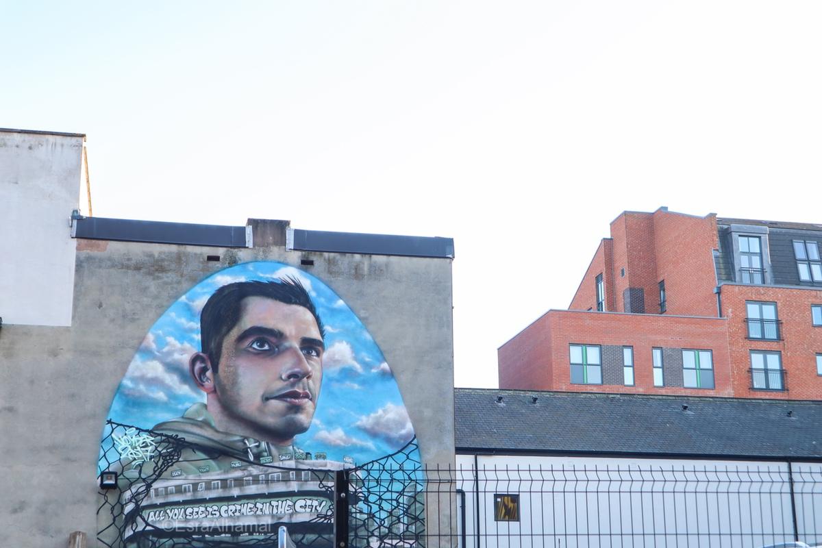 Graffiti street art in Leicester