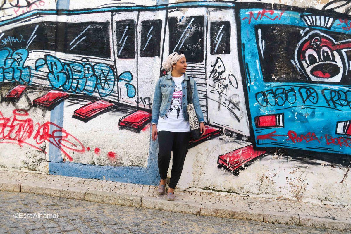 Muslim girl in Lagos, Portugal