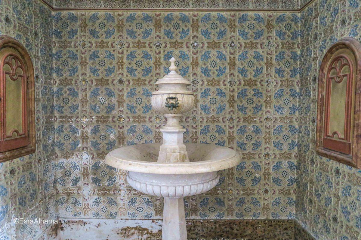 Geometric tiles inside the church, Lagos, Portugal