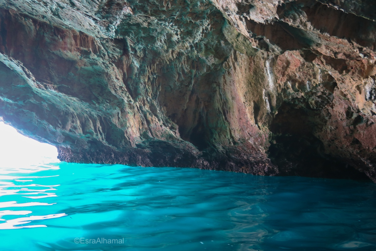 Water of the blue cave, Kotor, Montenegro