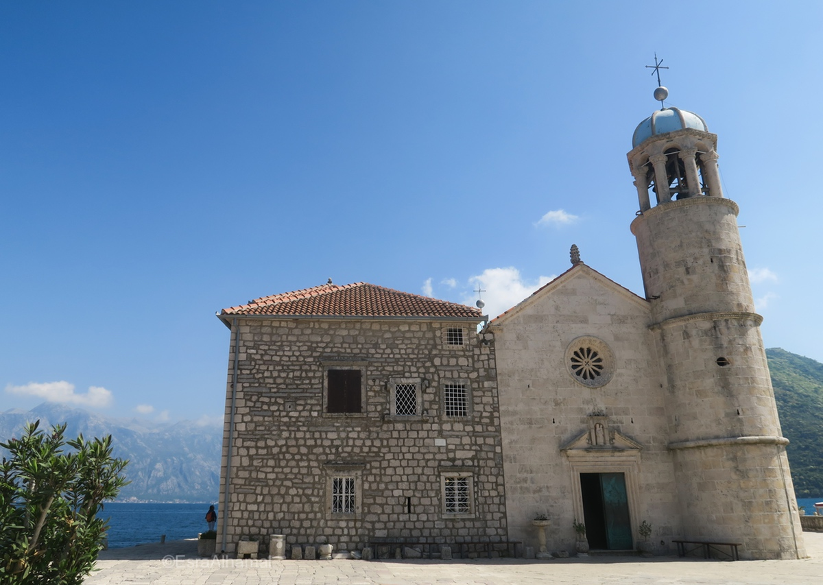 Artificial Church Island, Kotor, Montenegro