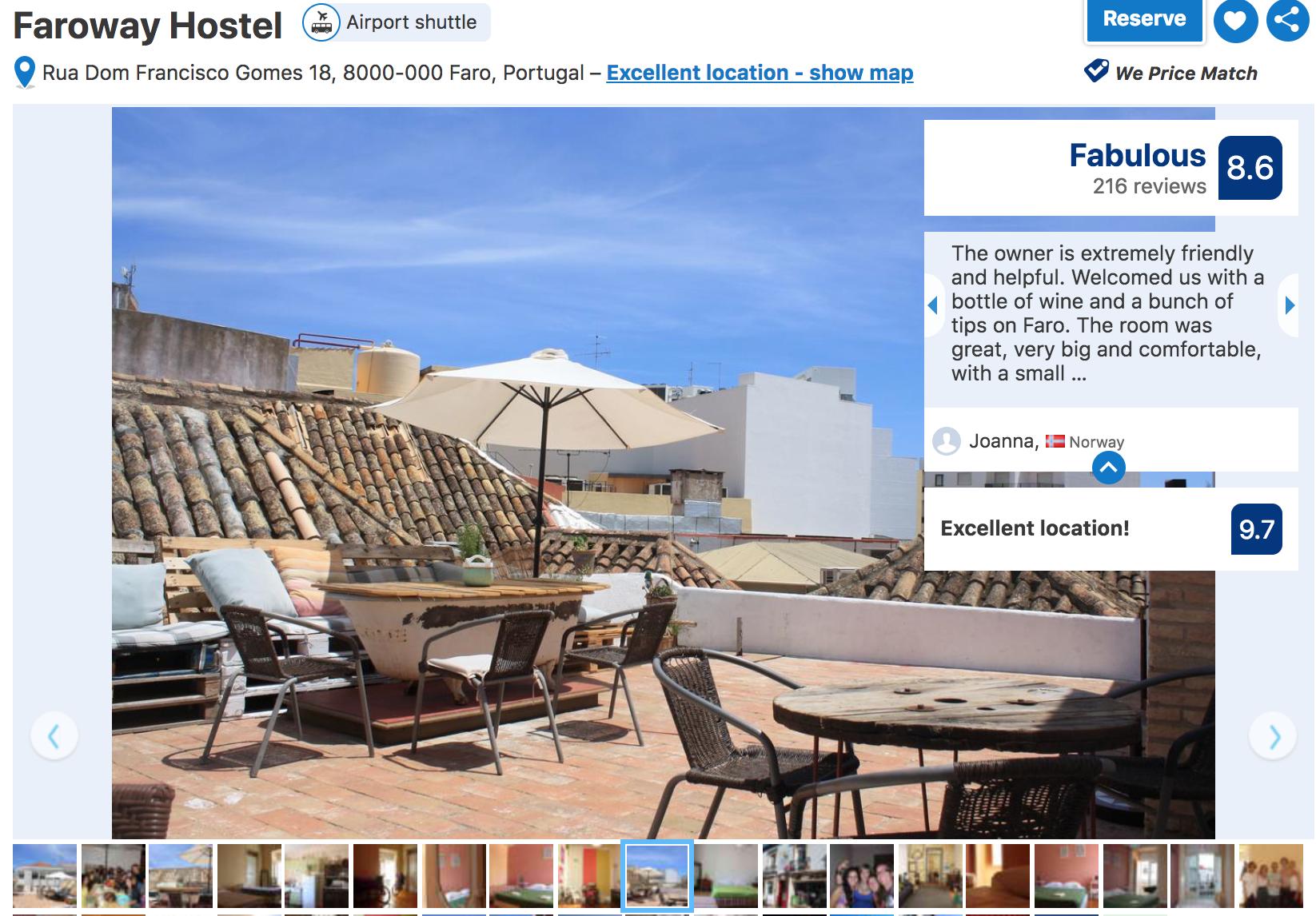 Budget Hotel in Faro - Hostels in Faro
